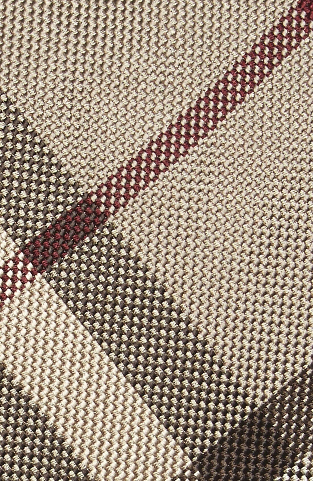 Clinton Check Silk Tie,                             Alternate thumbnail 2, color,                             Smoke Trench