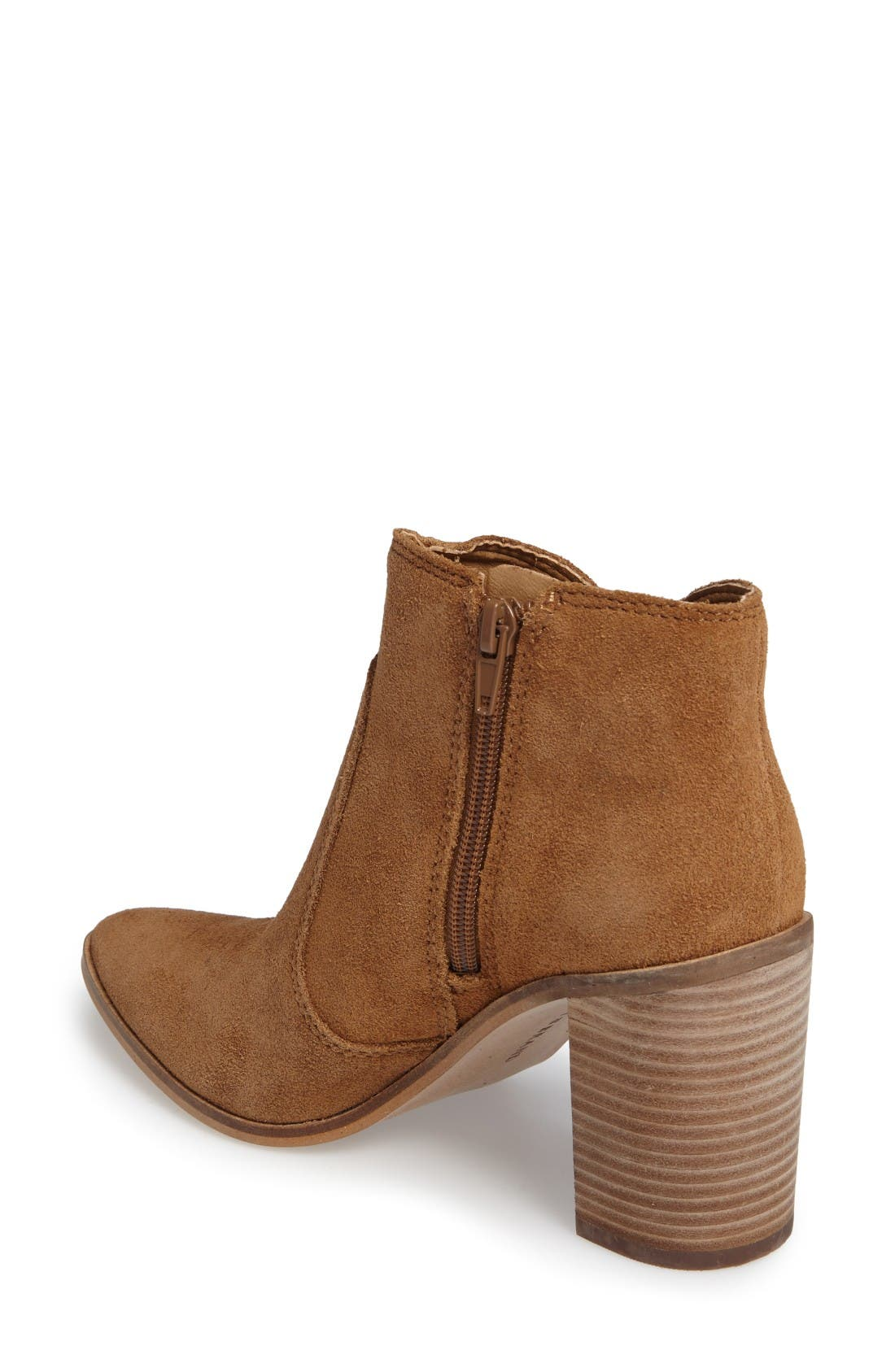 Alternate Image 2  - Lucky Brand Mercerr Pointy Toe Fringe Bootie (Women)