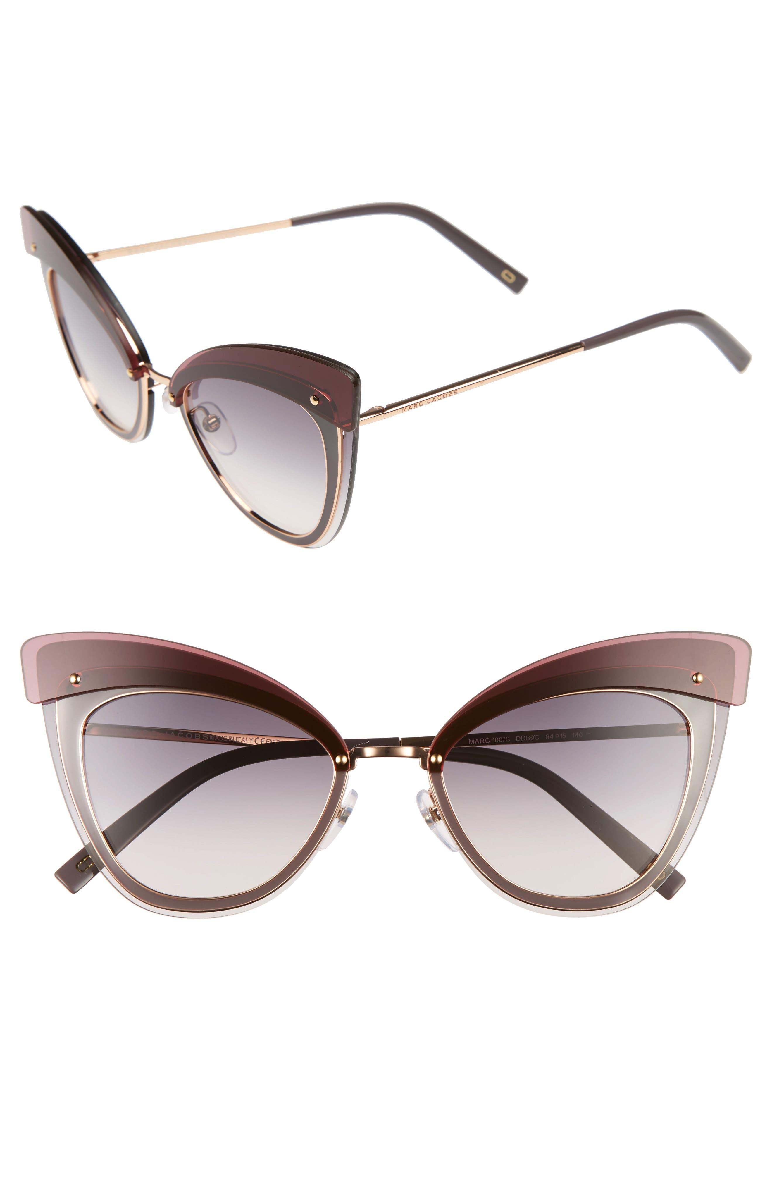64mm Sunglasses,                         Main,                         color, Gold Copper