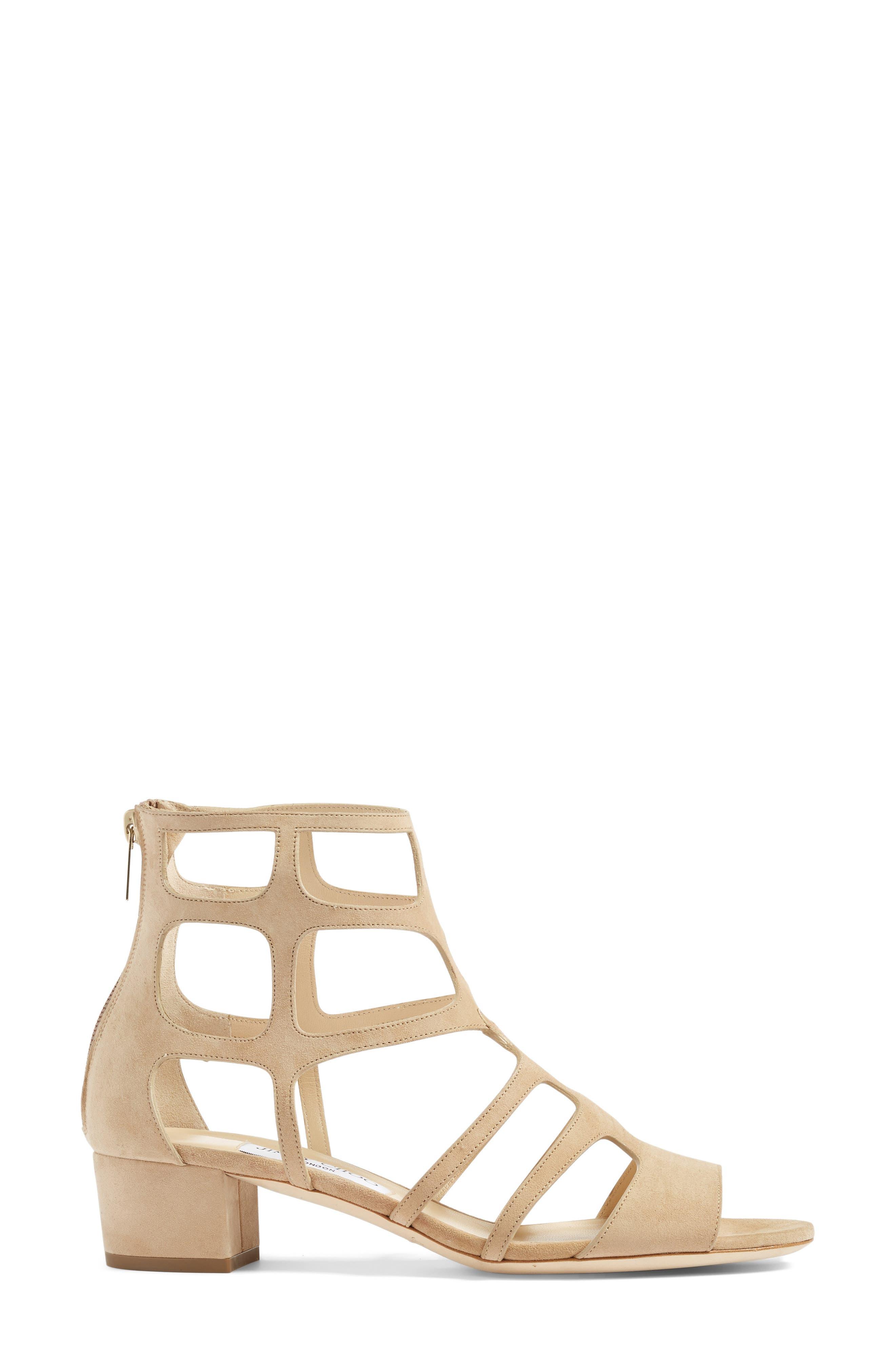 Alternate Image 4  - Jimmy Choo Ren Block Heel Sandal (Women)
