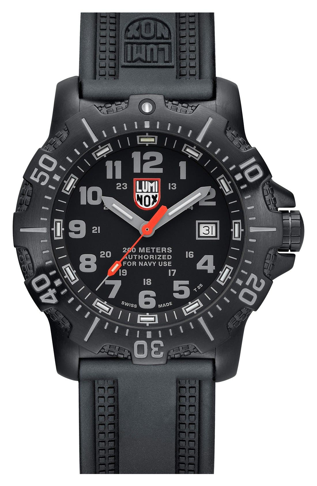 Alternate Image 1 Selected - Luminox 'Sea - ANU' Polyurethane Strap Watch, 45mm