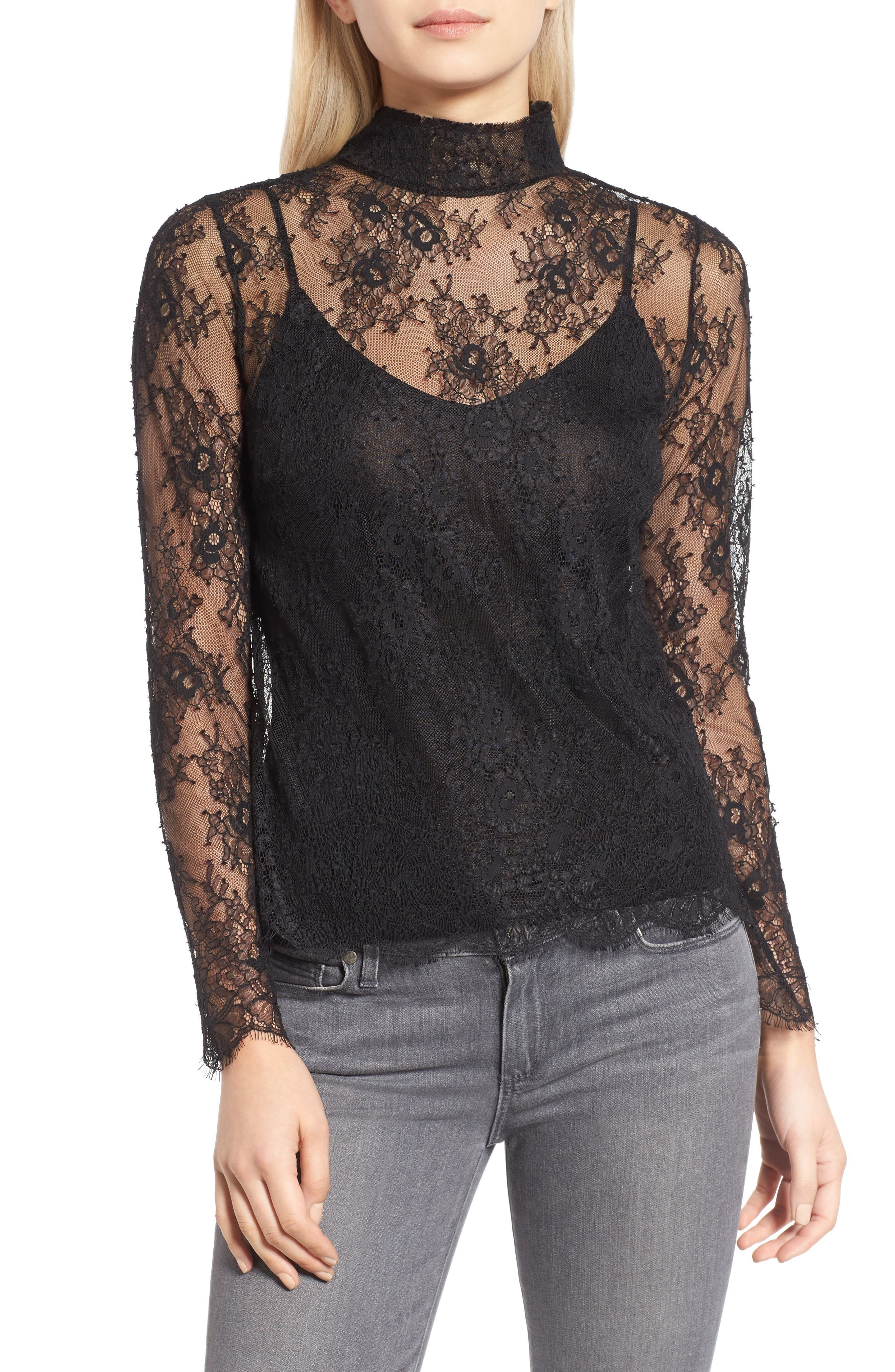 Alternate Image 1 Selected - Chelsea28 Sheer Lace Top