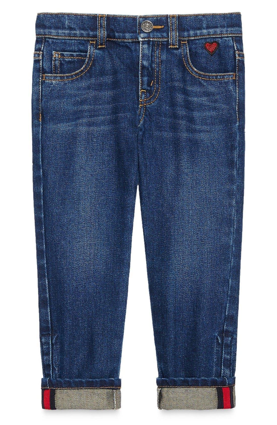 Main Image - Gucci Cuffed Jeans (Little Girls & Big Girls)