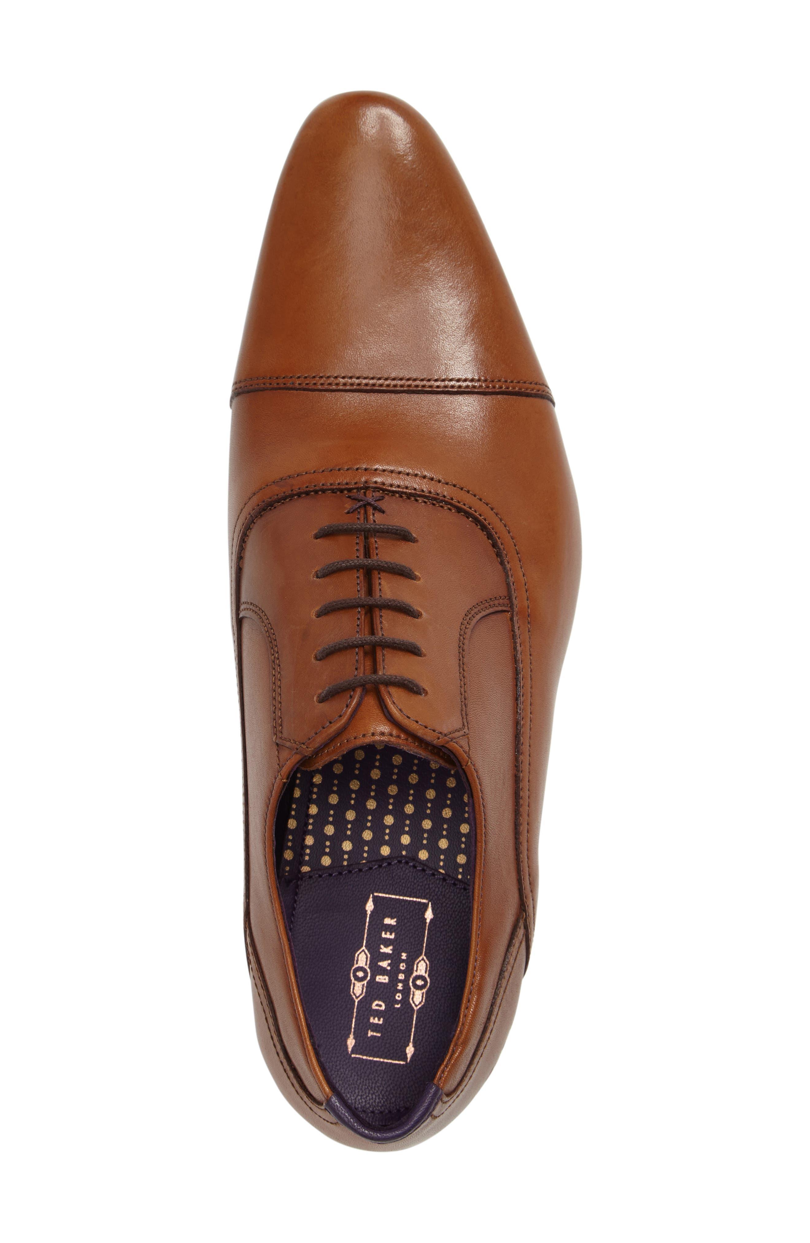 Rogrr 3 Cap Toe Oxford,                             Alternate thumbnail 3, color,                             Tan Leather