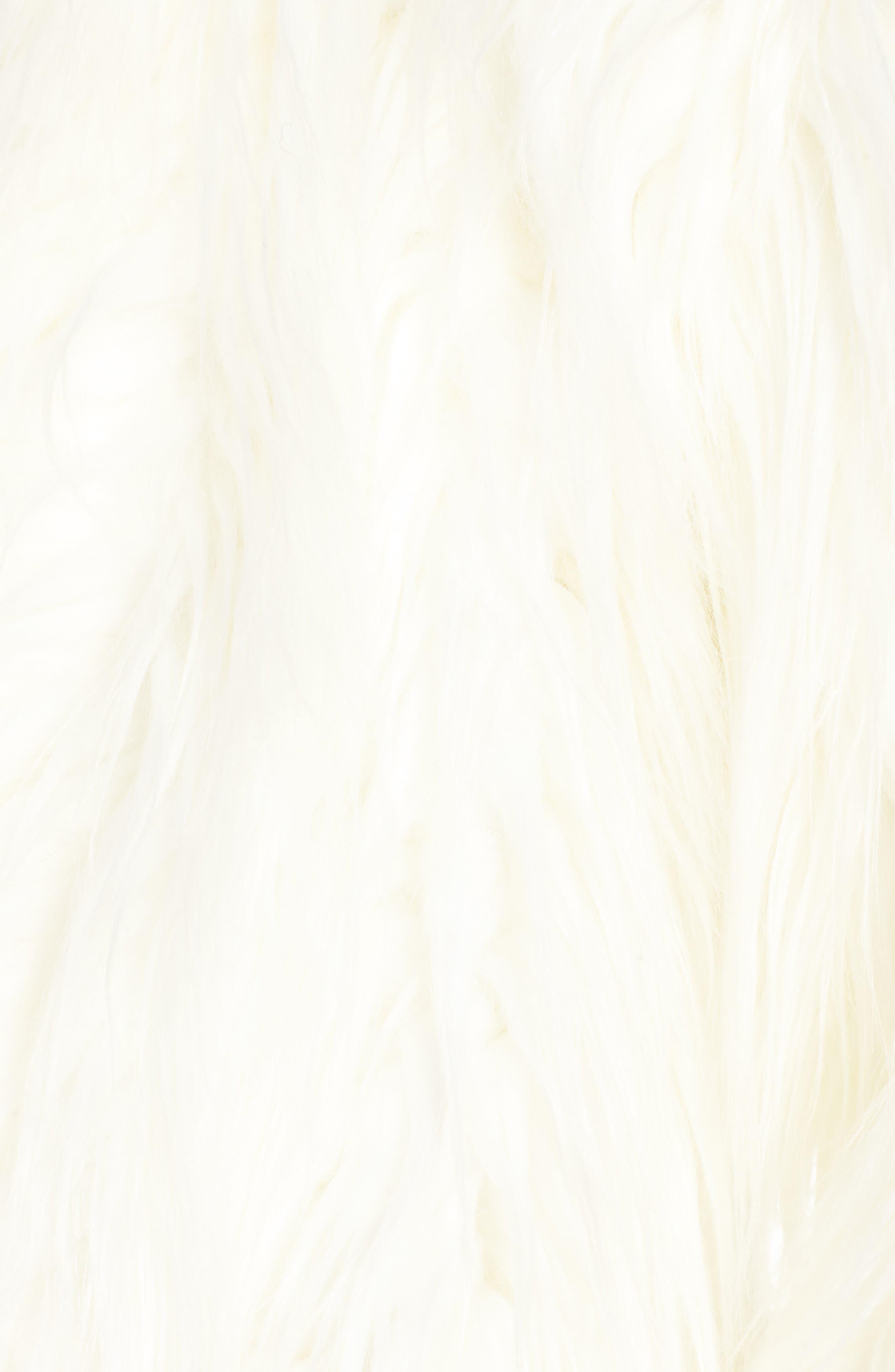 Alternate Image 5  - Olivia Palermo + Chelsea28 Open Front Faux Fur Jacket