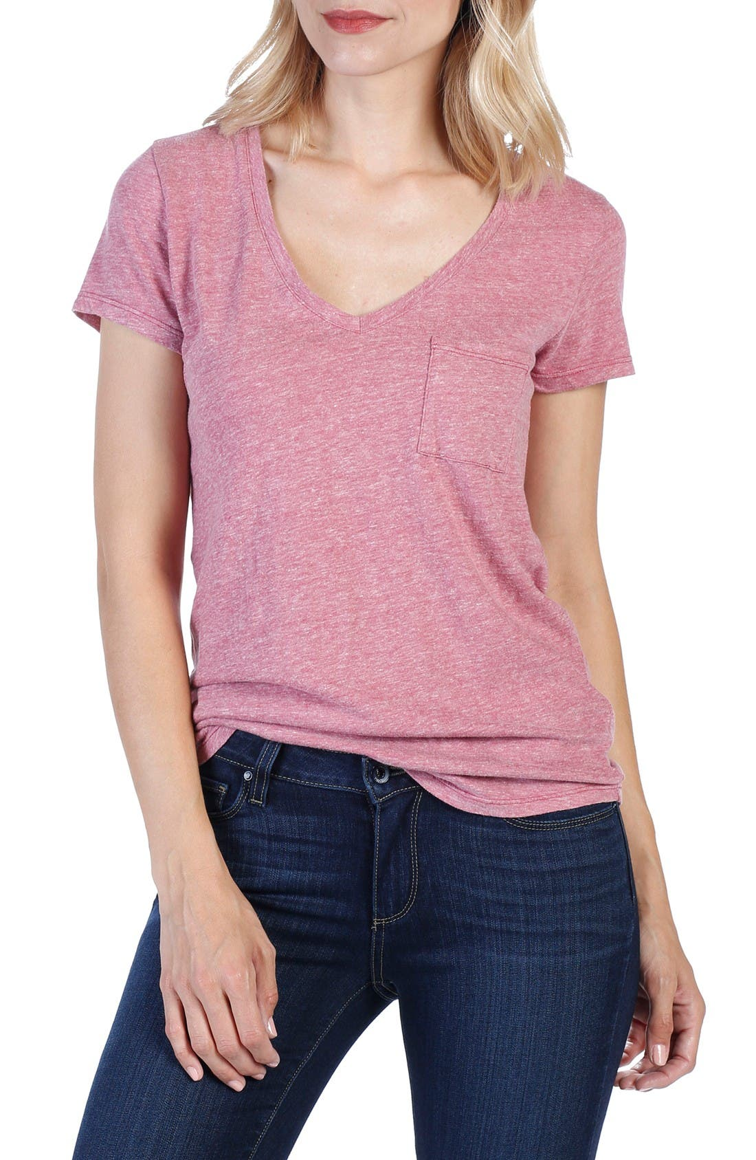 PAIGE Lynnea V-Neck Pocket Tee