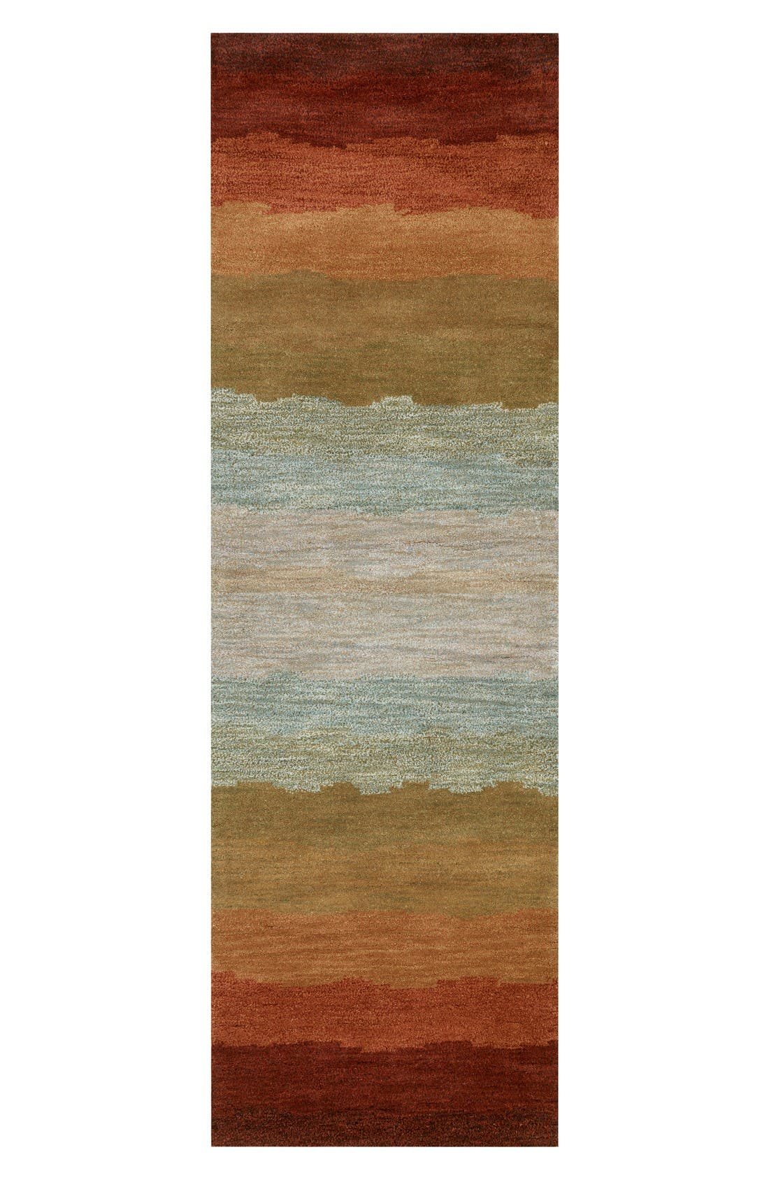 Desert Oasis Hand Tufted Wool Area Rug,                             Alternate thumbnail 2, color,                             Rust