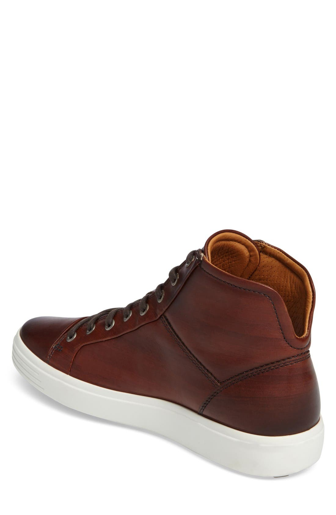 Soft 7 High Top Sneaker,                             Alternate thumbnail 2, color,                             Whisky Leather