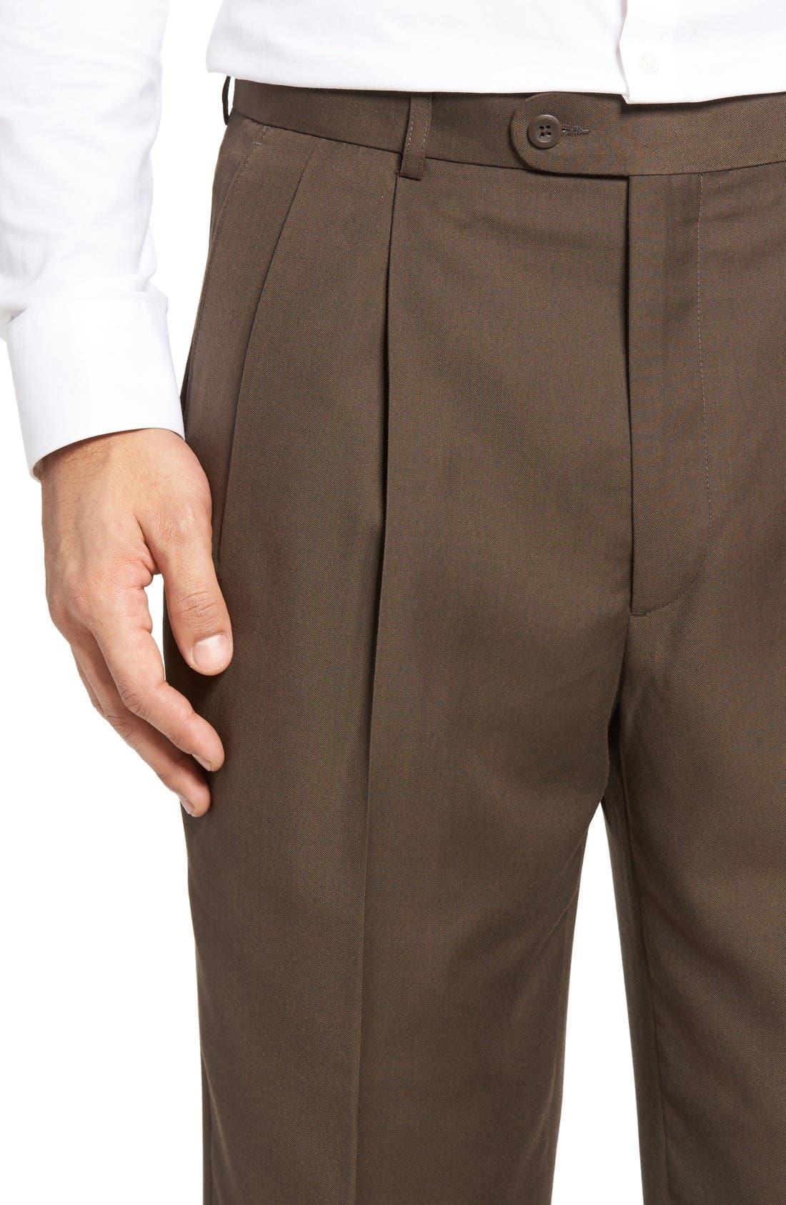 Alternate Image 4  - Linea Naturale Pleated Microfiber Dress Pants