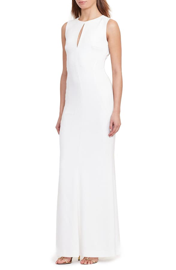 Lauren Ralph Lauren Stretch Crepe Gown (Regular & Petite)   Nordstrom