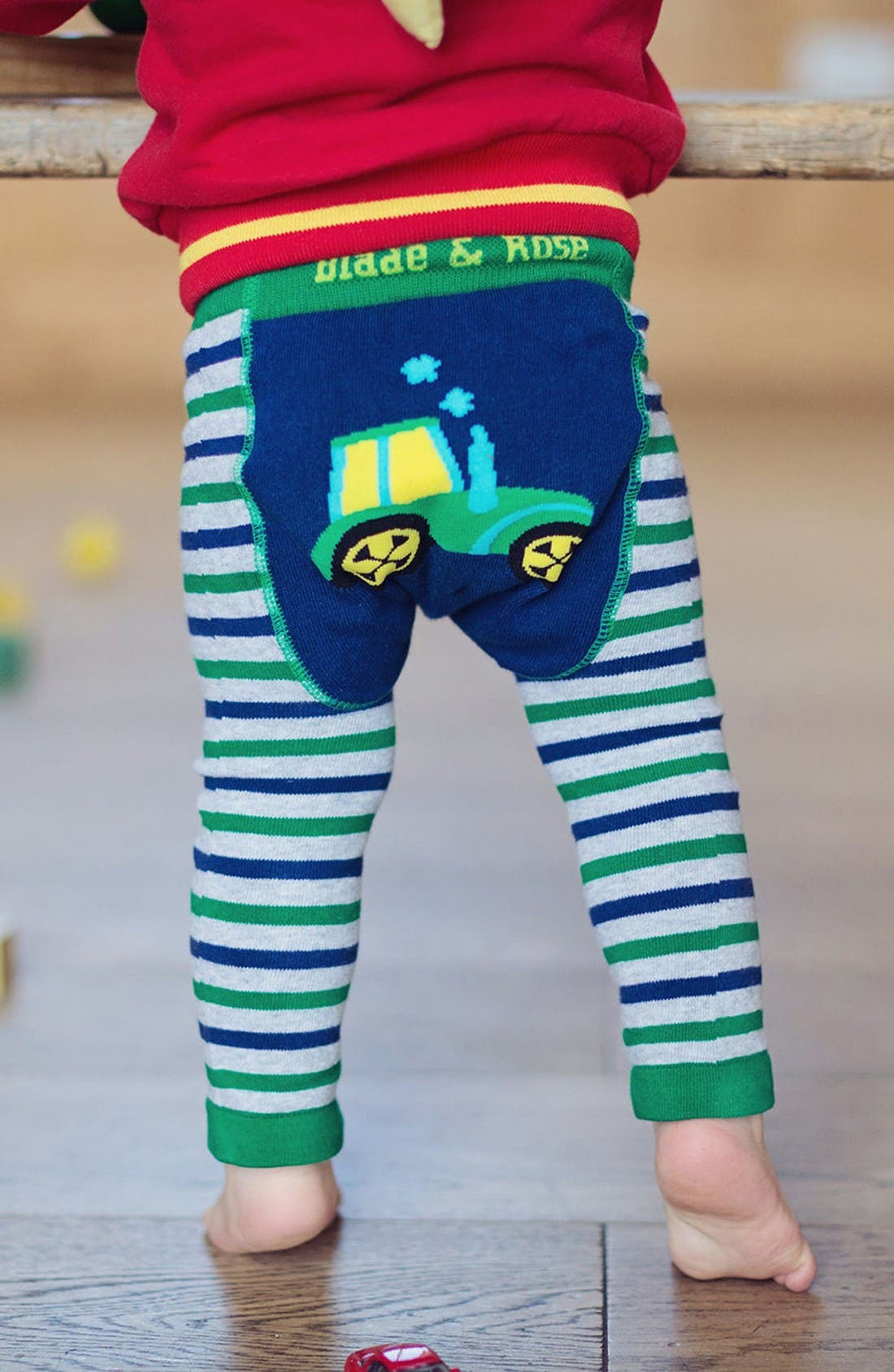 Tractor Leggings,                             Alternate thumbnail 2, color,                             Green Multi