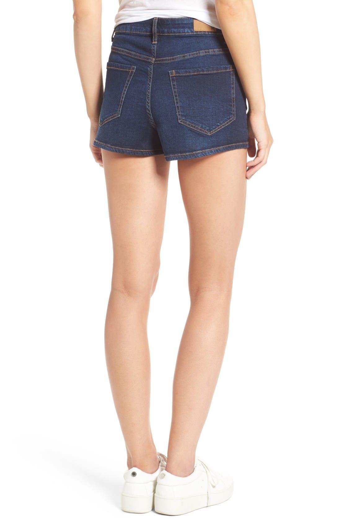 Alternate Image 2  - BP. High Rise Denim Shorts (Deep Sea Blue)
