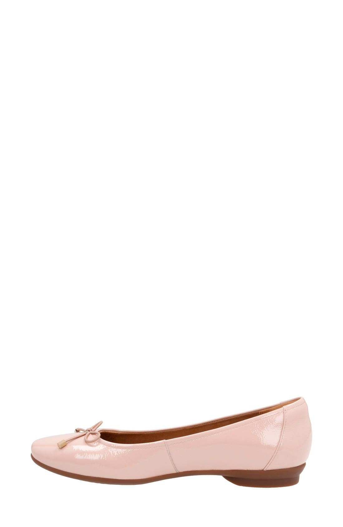 'Candra Light' Flat,                             Alternate thumbnail 2, color,                             Dusty Pink Patent Leather