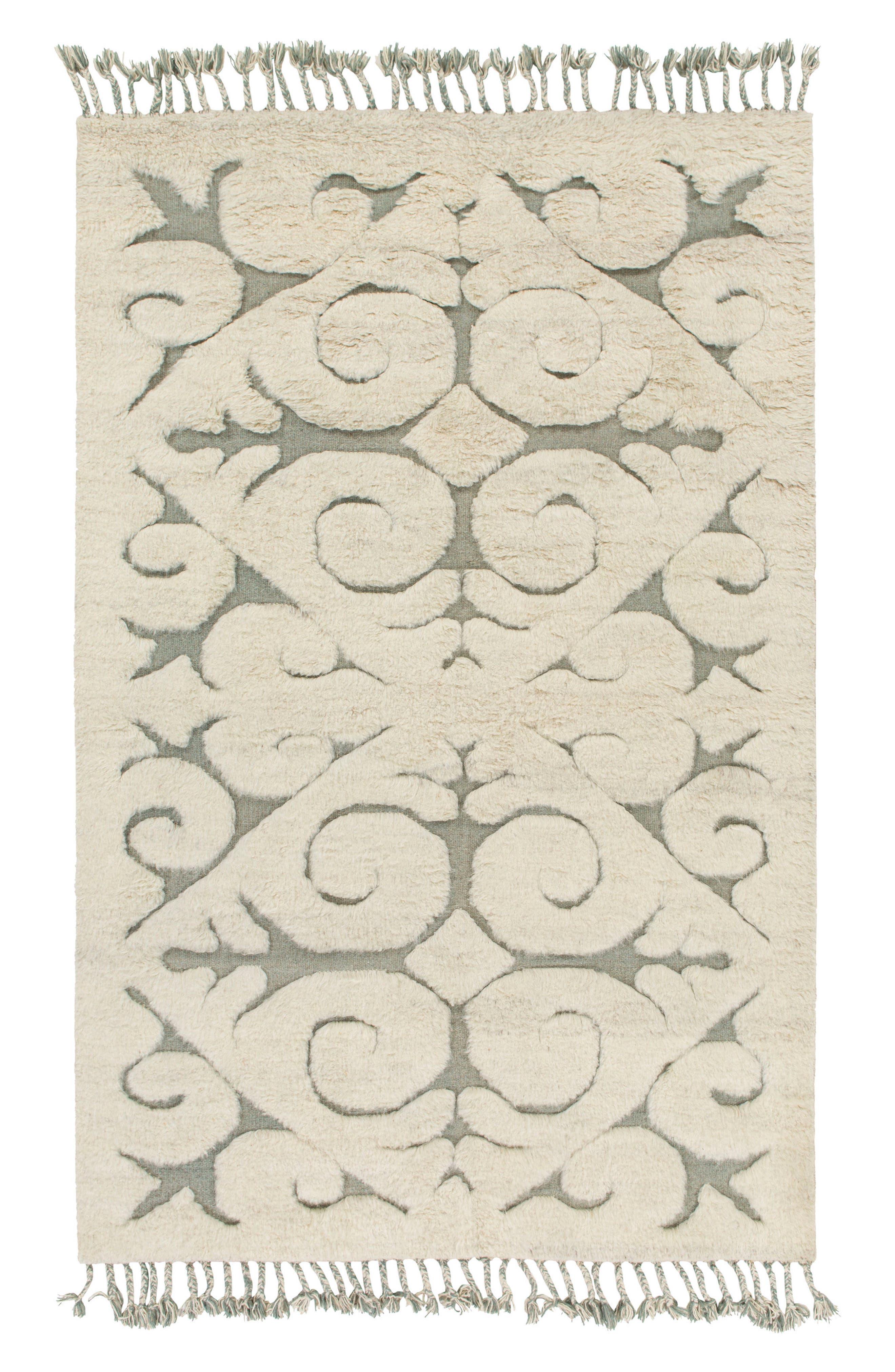 Chloe Tassels Wool Rug,                         Main,                         color, Cream/ Grey