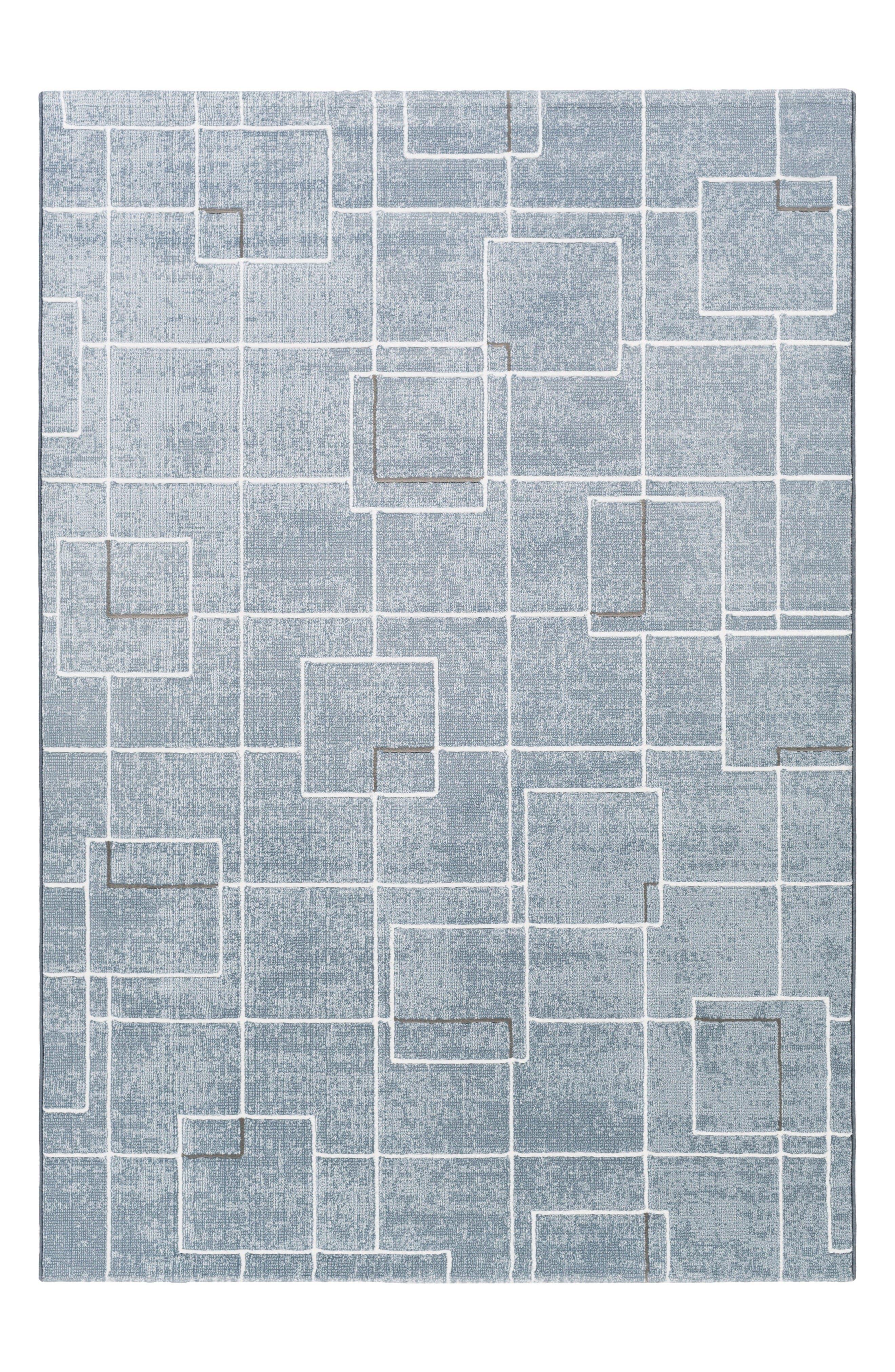 Grid Rug,                         Main,                         color, Pale Blue