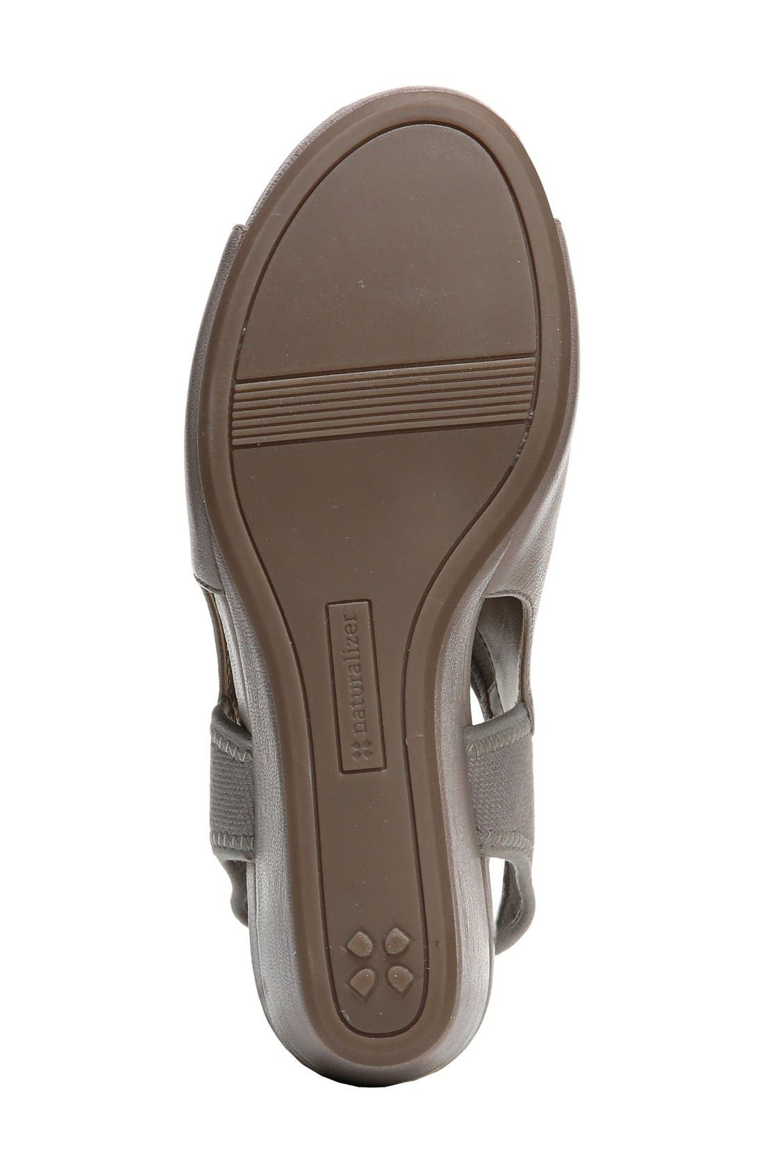 Cailla Shield Sandal,                             Alternate thumbnail 4, color,                             Grey Leather