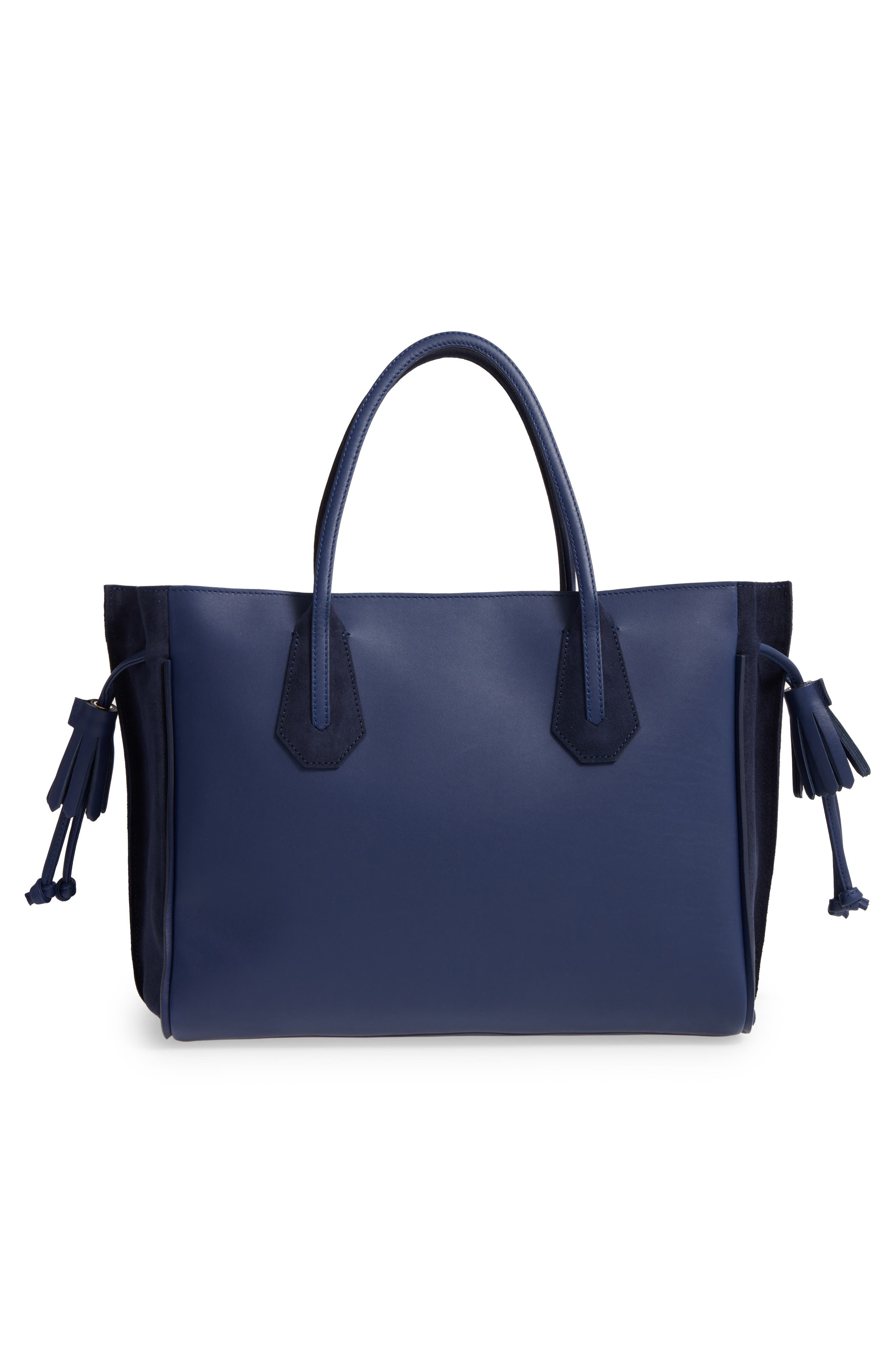 'Medium Penelope Fantasie' Leather Tote,                             Alternate thumbnail 2, color,                             Blue