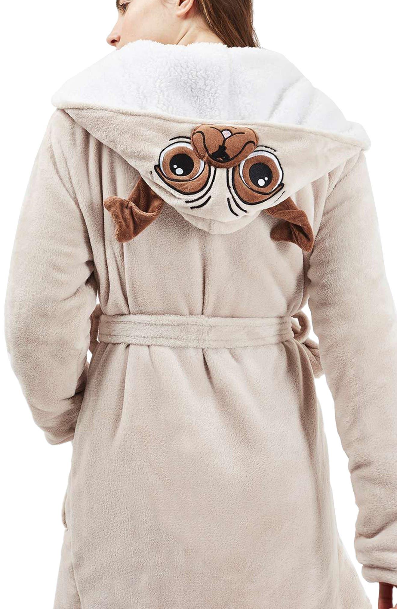 Alternate Image 2  - Topshop Pug Hood Robe
