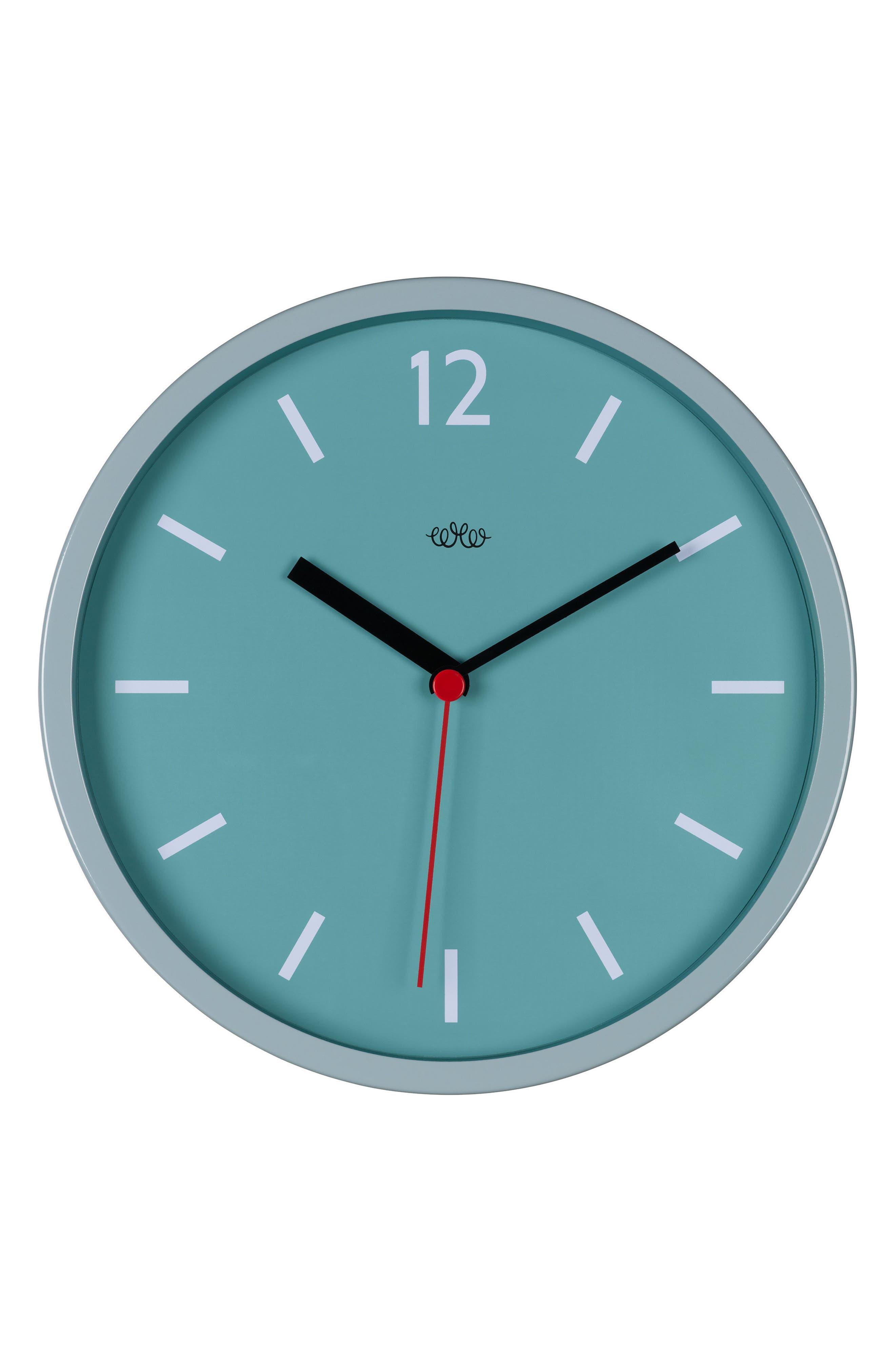Wall Clock,                             Main thumbnail 1, color,                             Blue