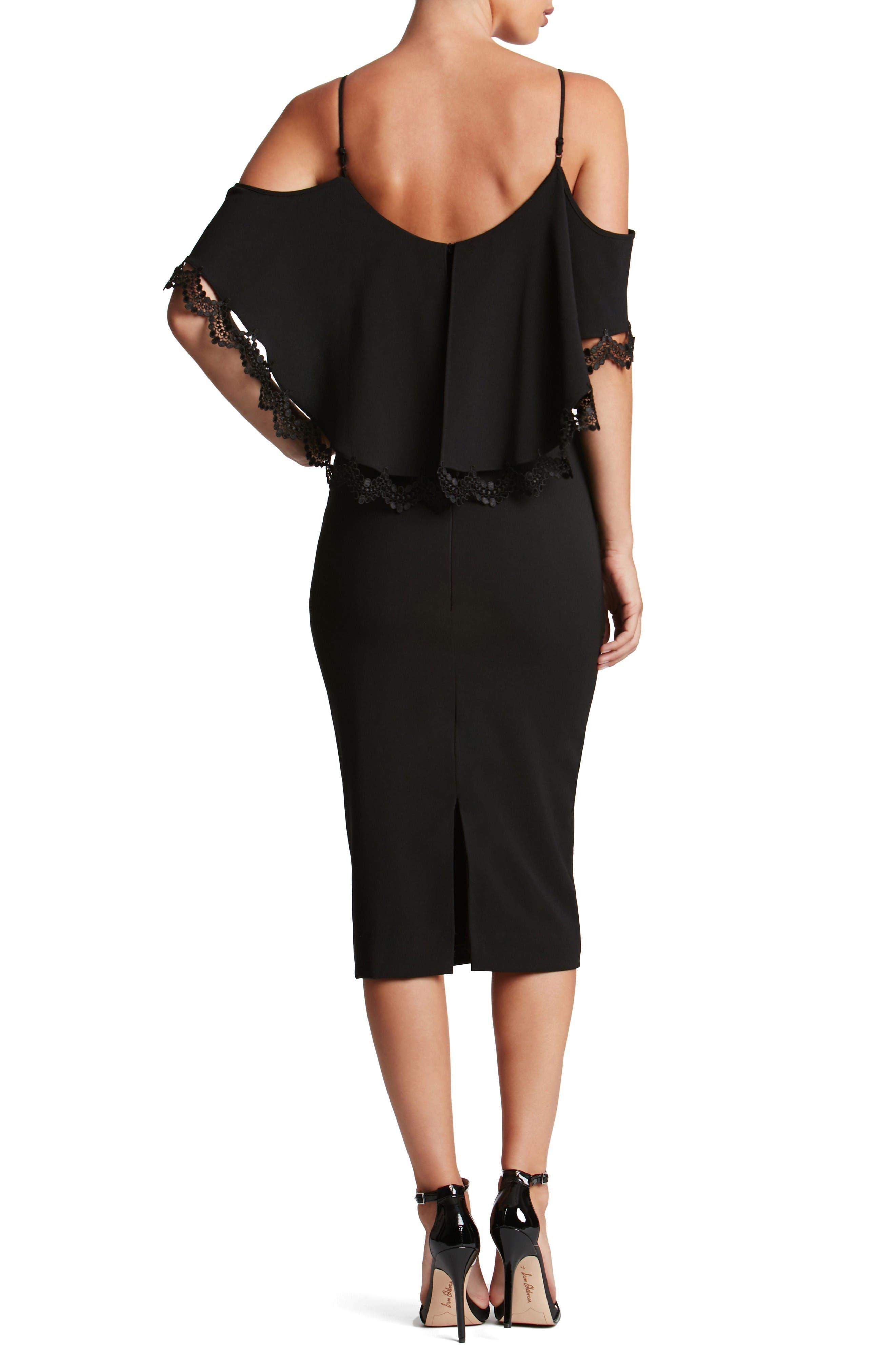 Alternate Image 2  - Dress the Population Beth Cold Shoulder Dress