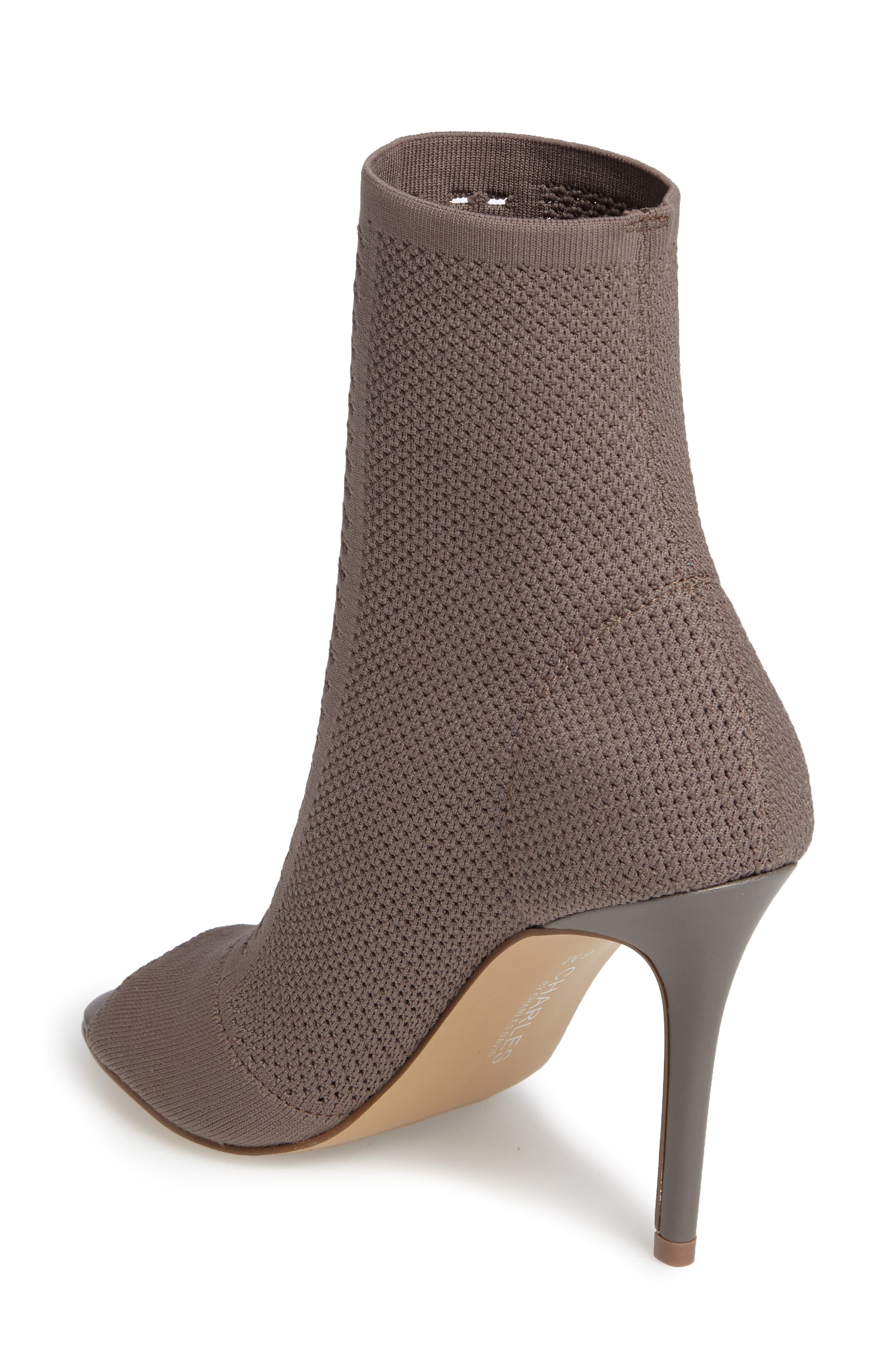 Alternate Image 2  - Charles by Charles David Rebellious Knit Peep Toe Bootie (Women)