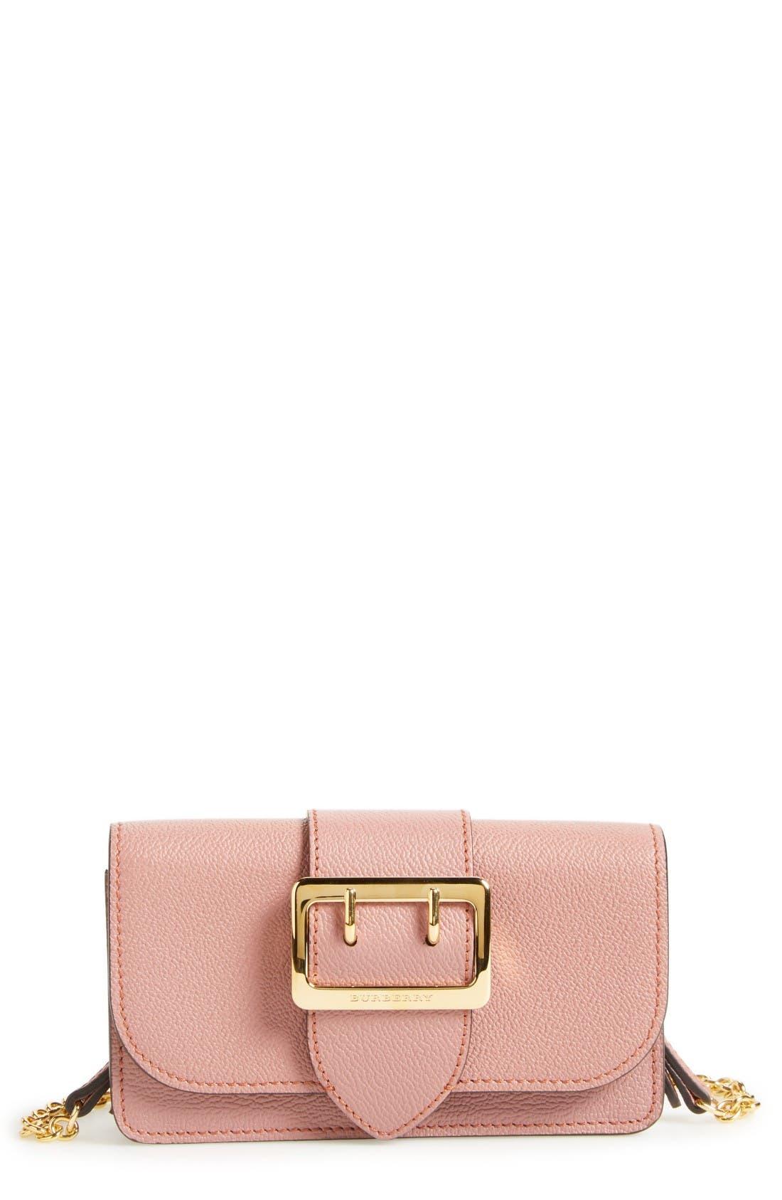Burberry Mini Buckle Calfskin Leather Bag