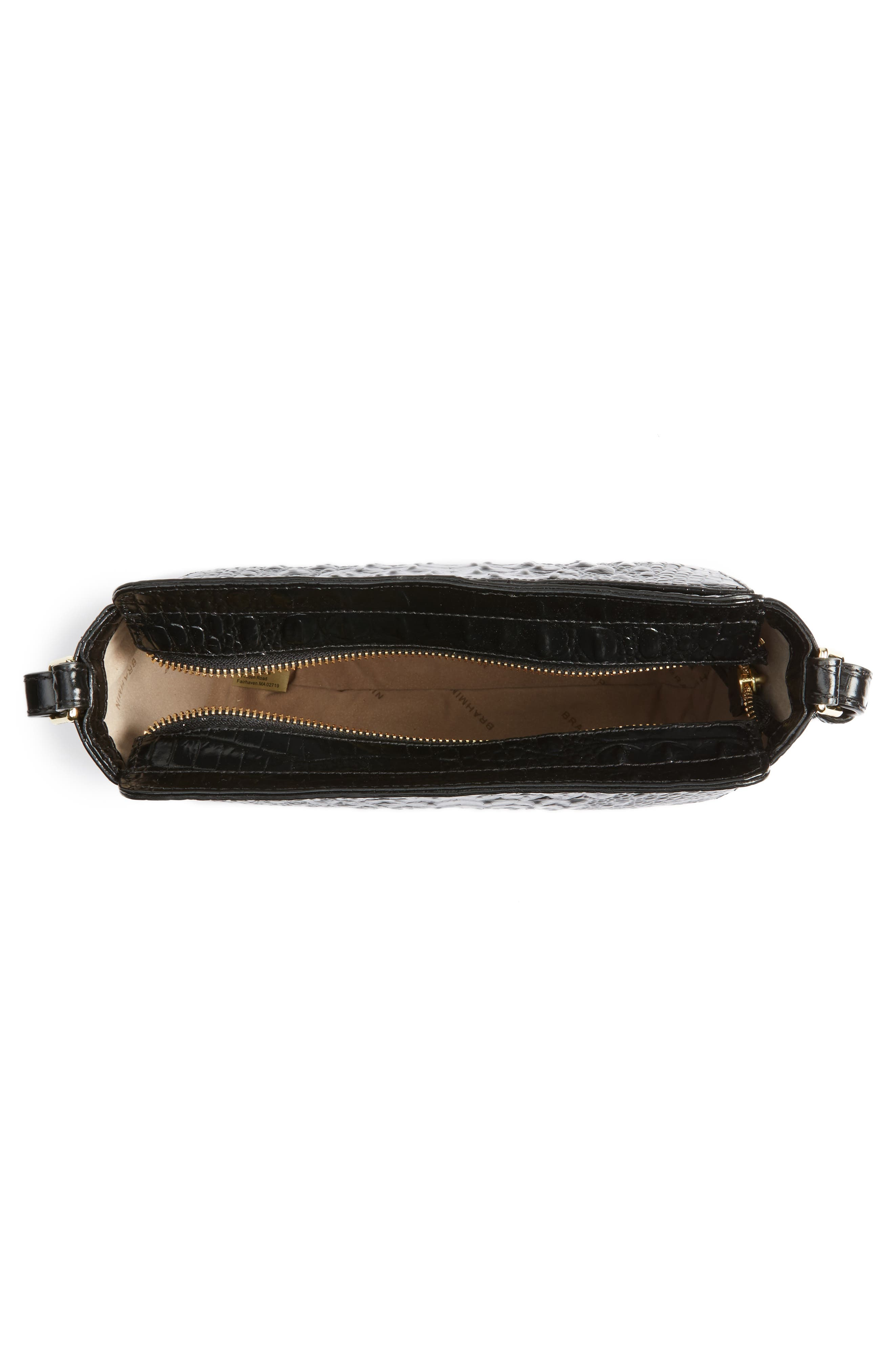 Melbourne Carrie Leather Crossbody Bag,                             Alternate thumbnail 6, color,                             Black
