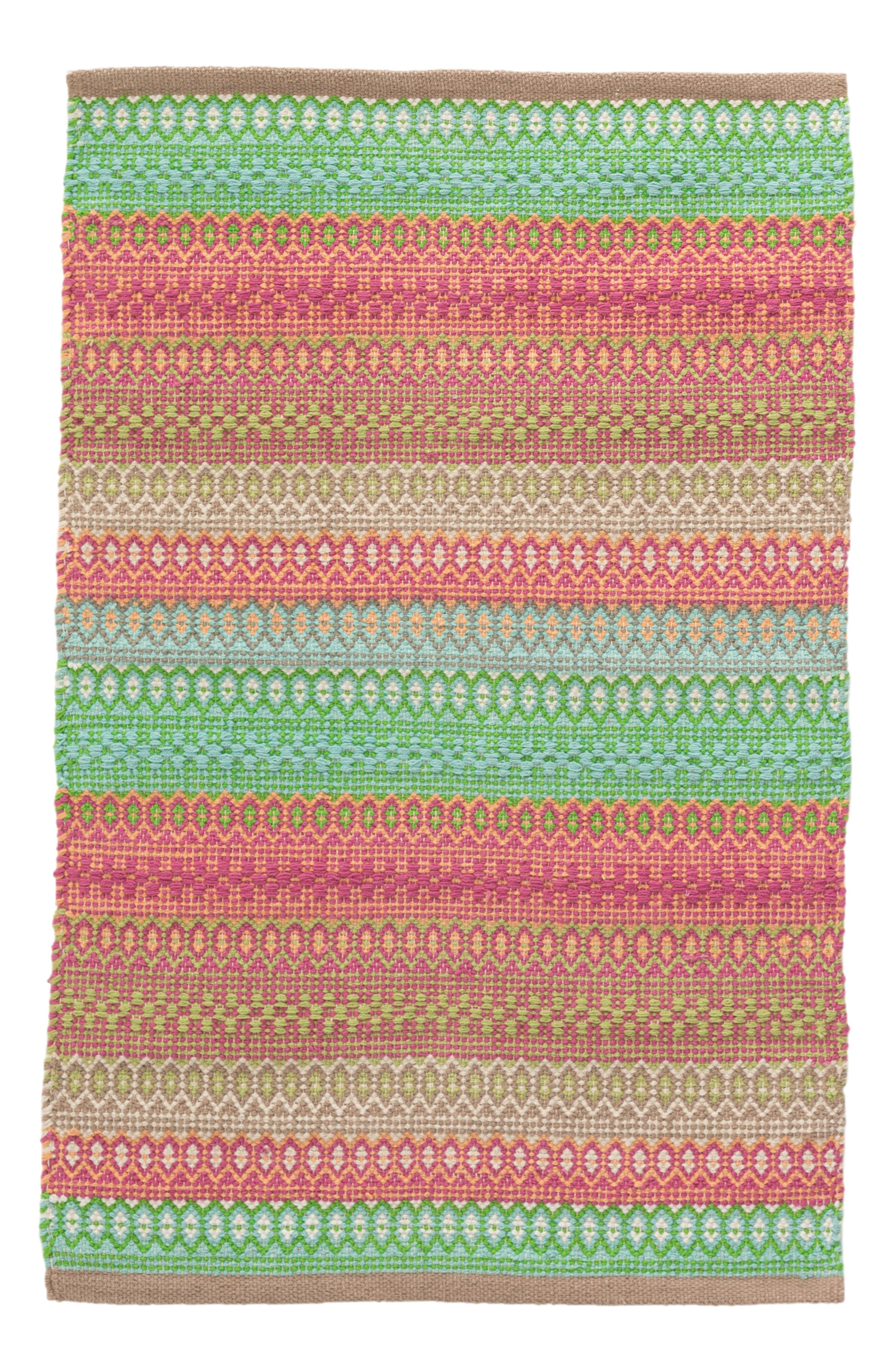 Stripe Rug,                         Main,                         color, Green