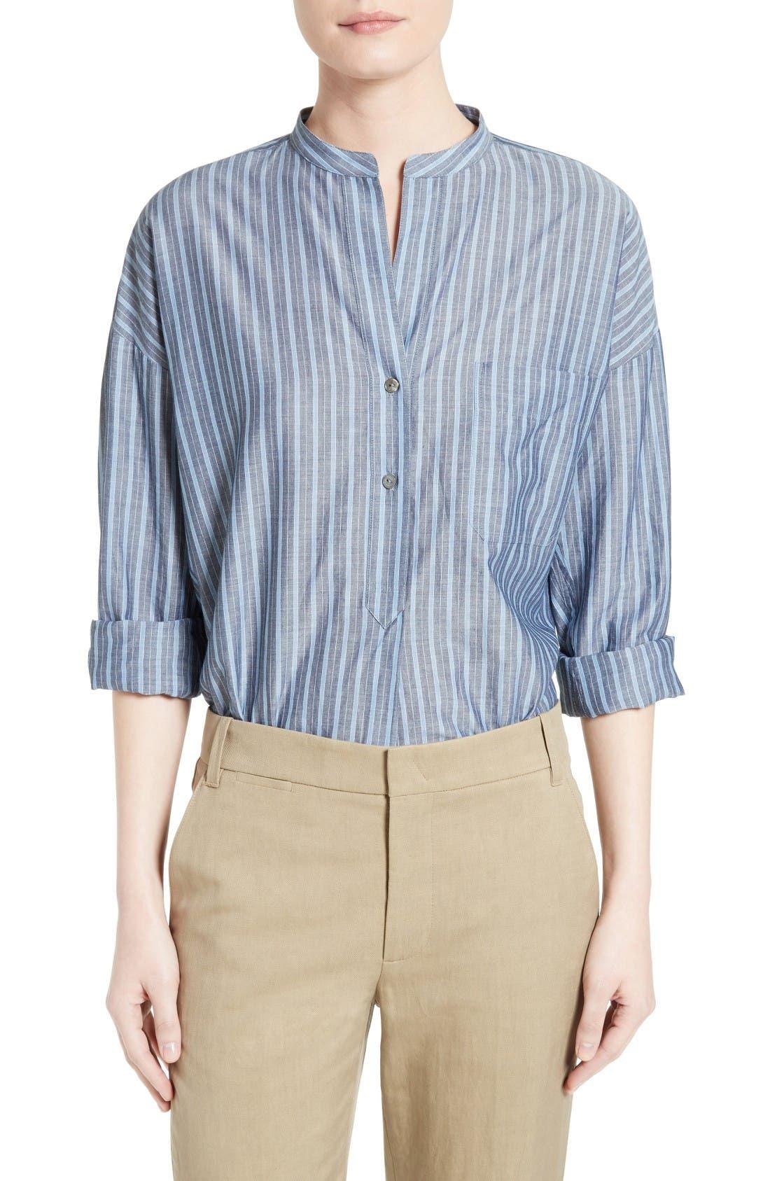 Alternate Image 1 Selected - Vince Stripe Popover Shirt