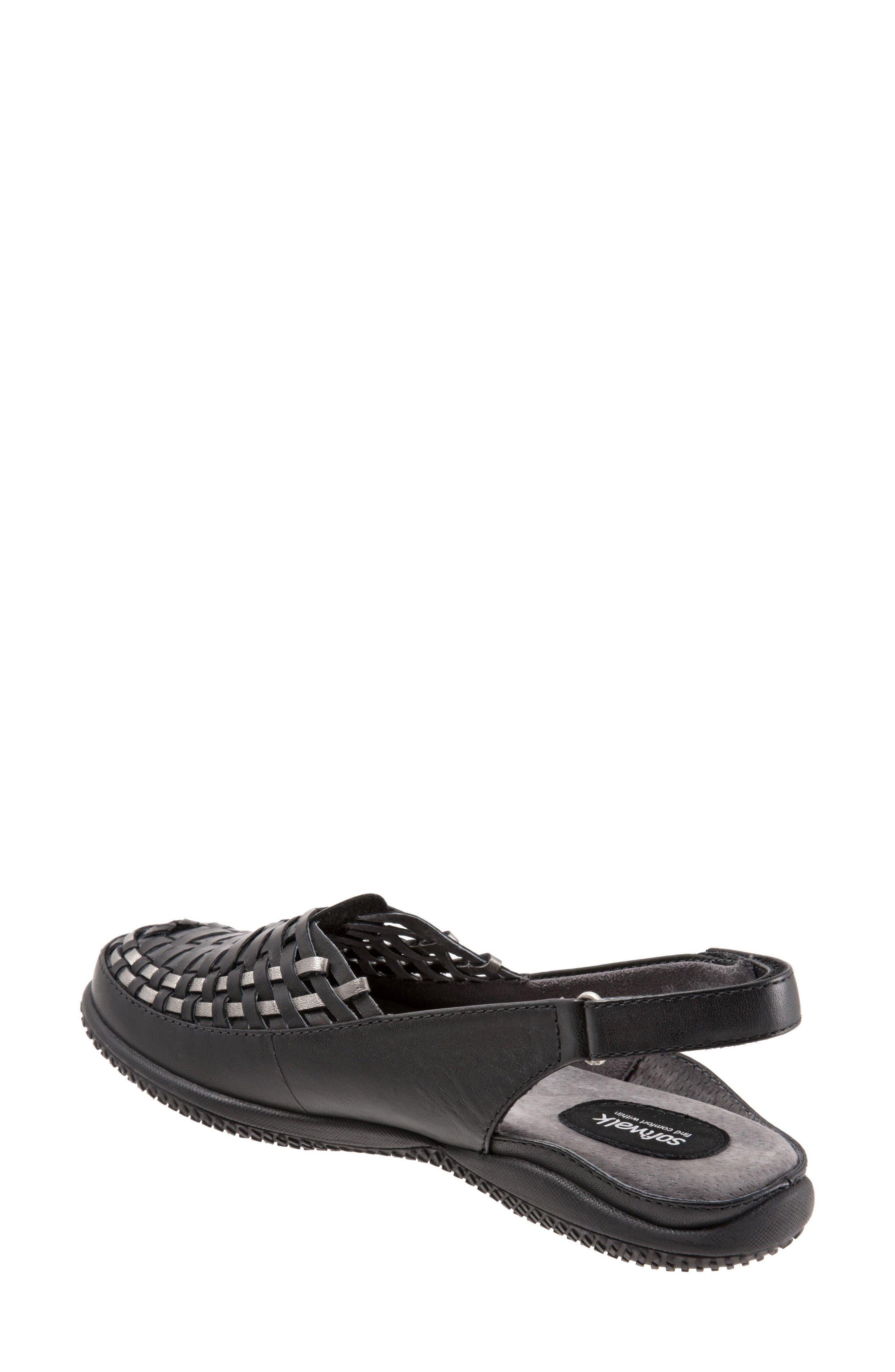 Harper Slingback Clog,                             Alternate thumbnail 2, color,                             Black/ Pewter Leather