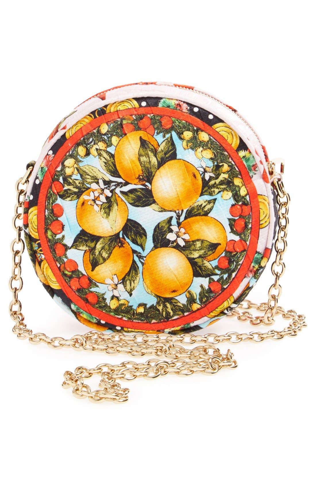 Alternate Image 4  - Dolce&Gabbana 'Miss Glam' Floral Print Crossbody Bag
