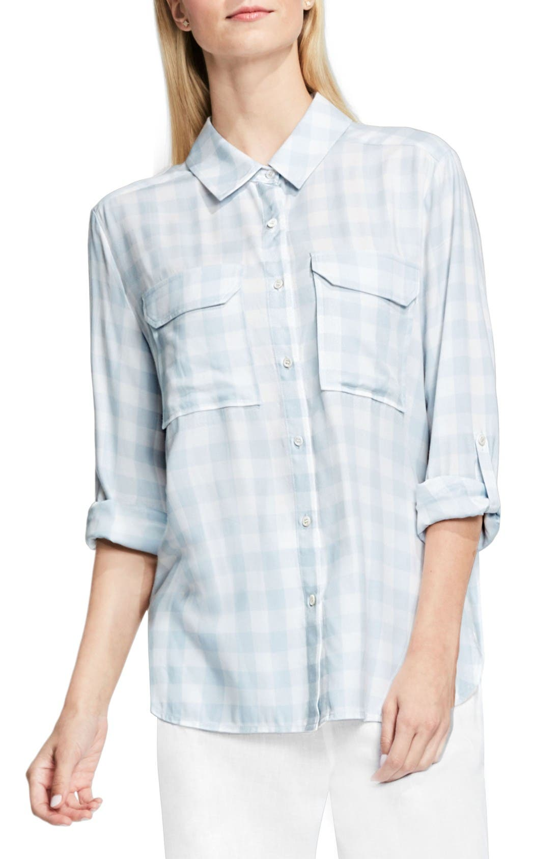 Alternate Image 1 Selected - Two by Vince Camuto Gingham Check Shirt