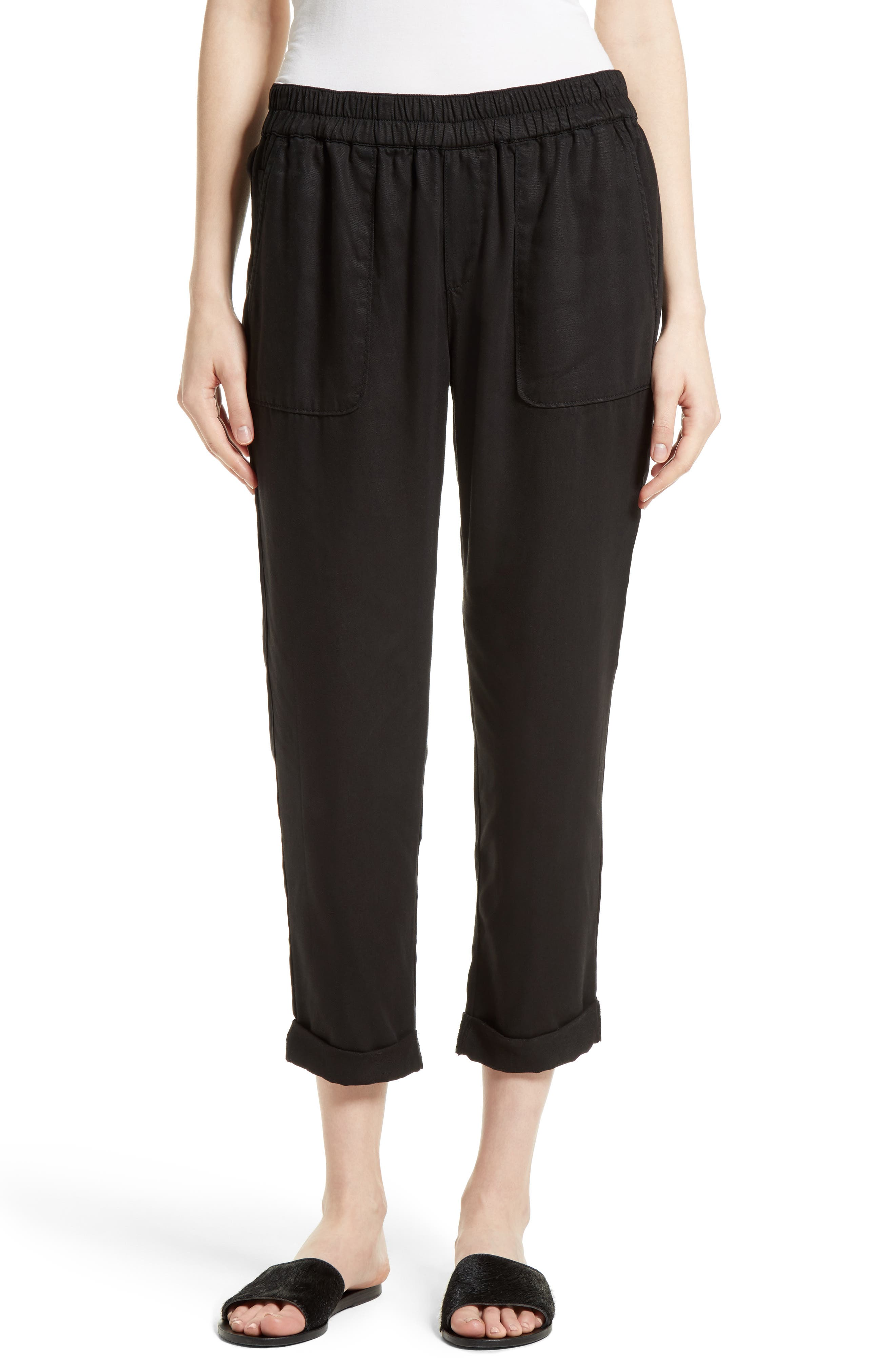 Joie Saphine Pull-On Twill Roll Cuff Pants