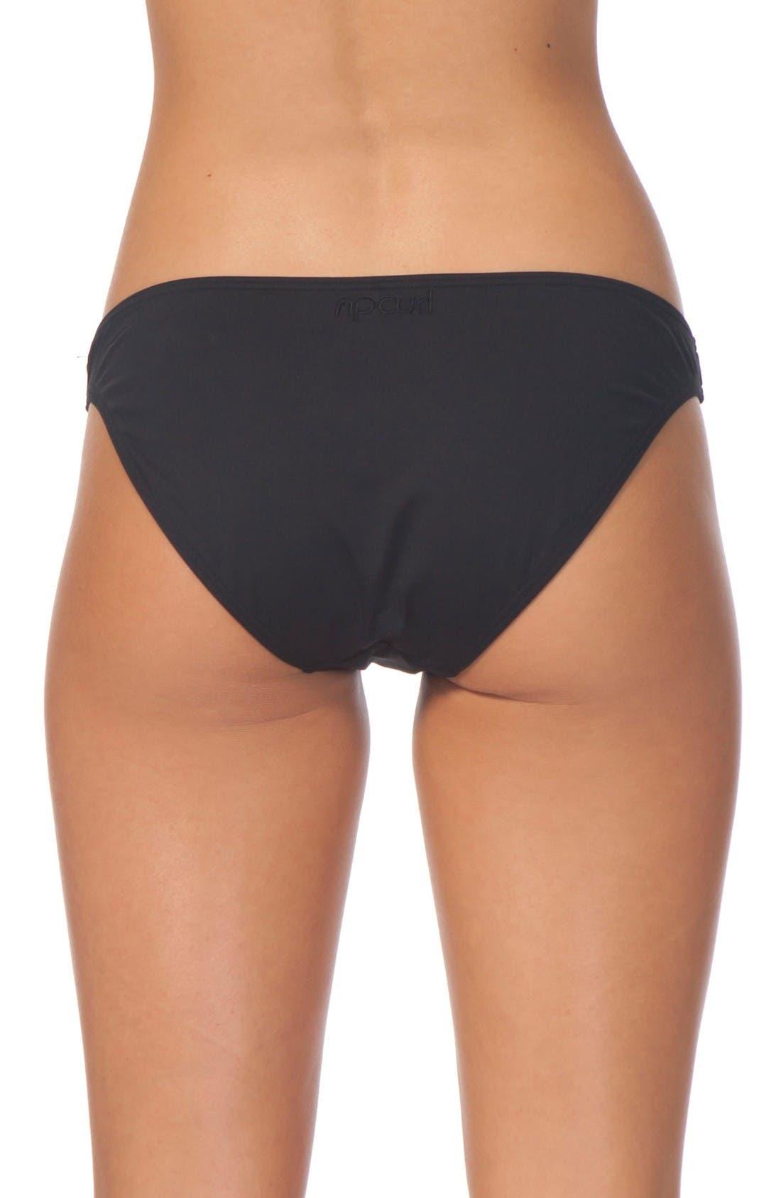 Classic Surf Bikini Bottoms,                             Alternate thumbnail 2, color,                             Black