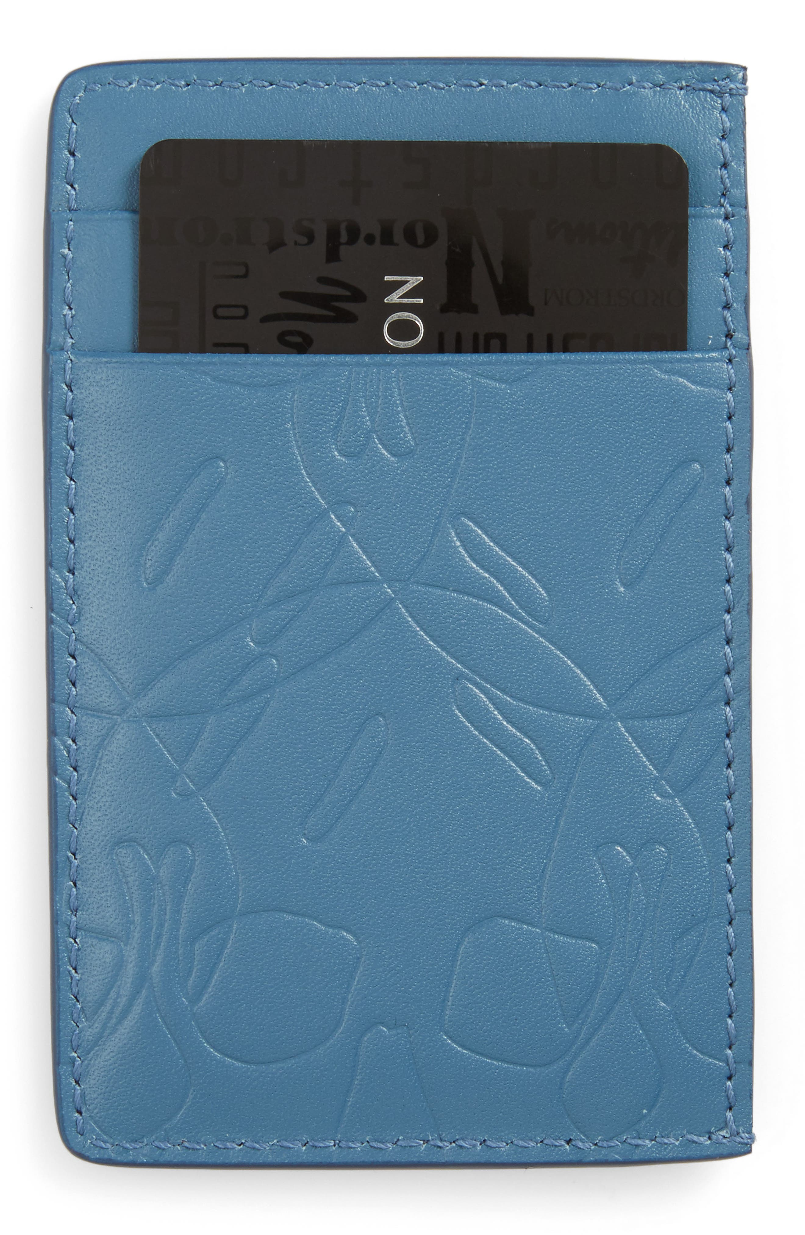 City Debossed Card Case,                         Main,                         color, Blue