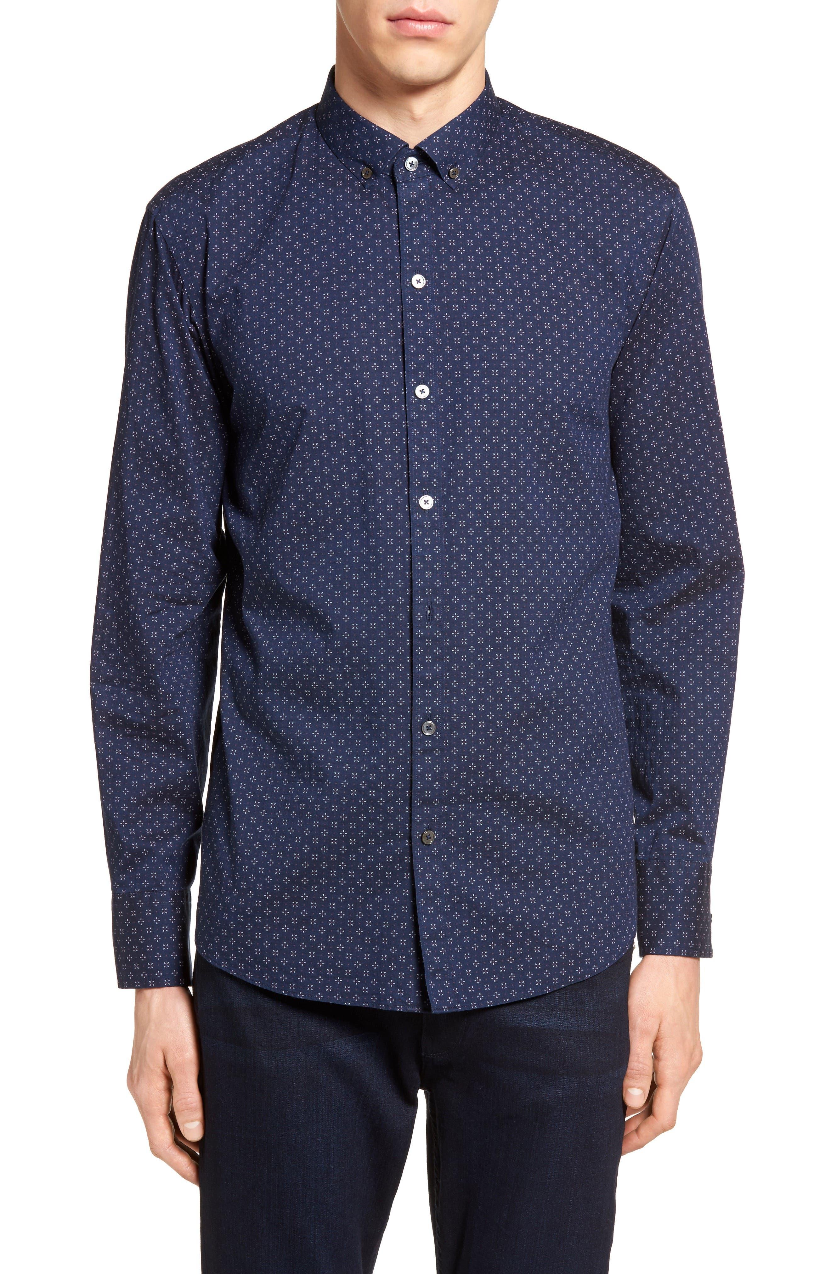 Alternate Image 1 Selected - Zachary Prell Kinnear Slim Fit Print Shirt