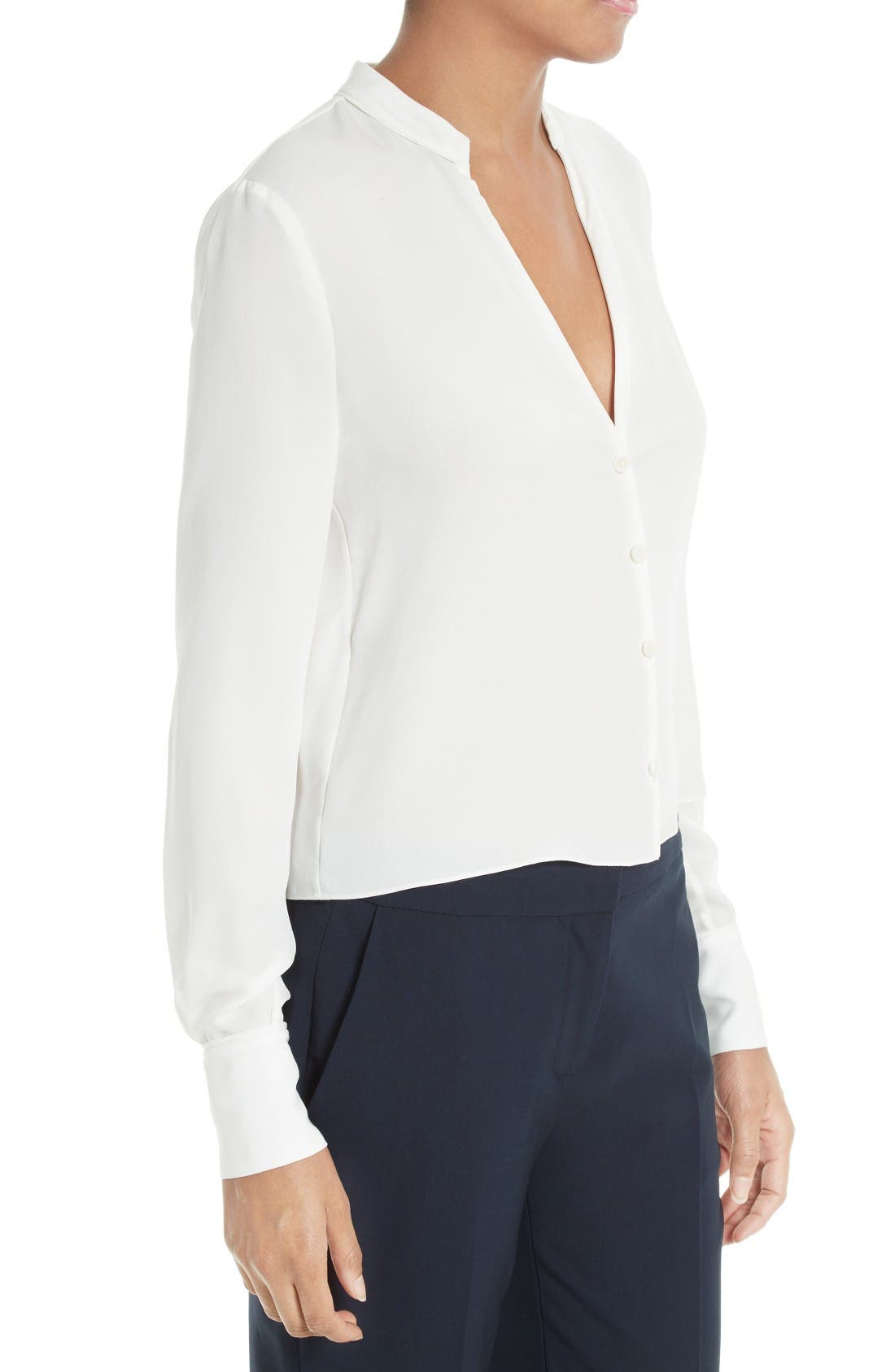 Alternate Image 3  - Diane von Furstenberg Stretch Silk V-Neck Blouse