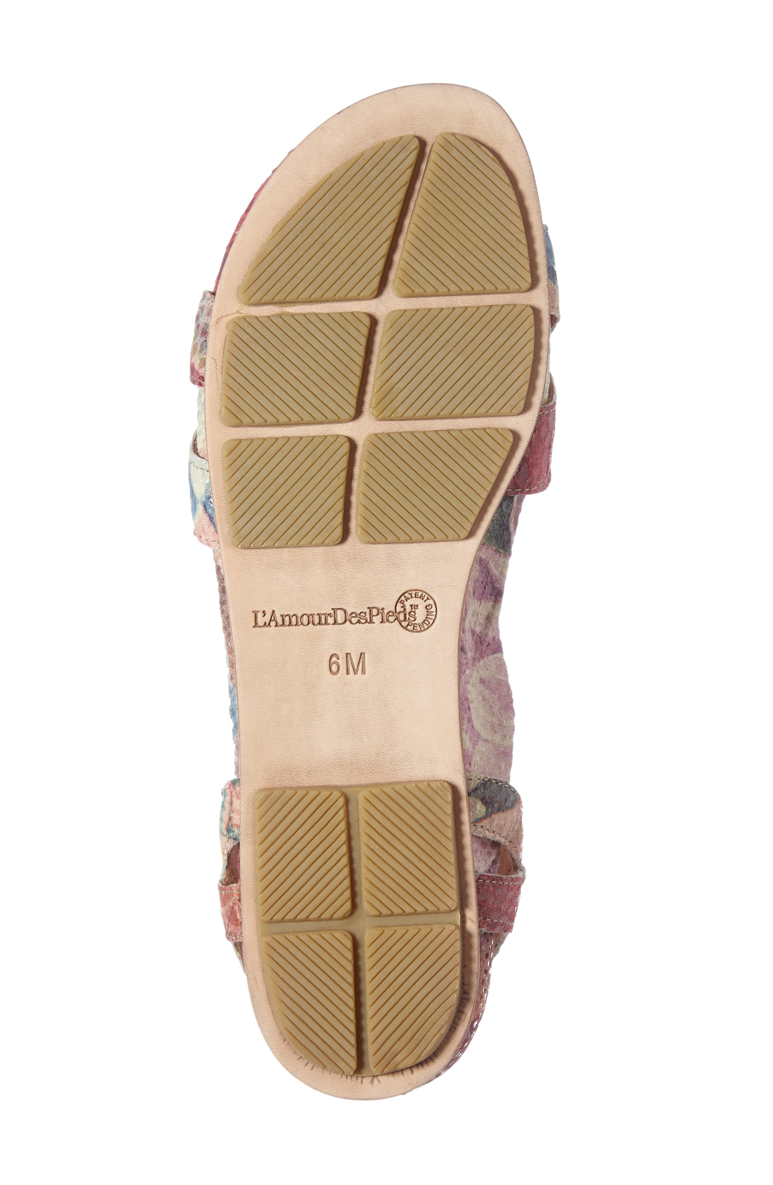 Darrylynn Wraparound Lace-Up Sandal,                             Alternate thumbnail 4, color,                             Bright Multi Printed Leather