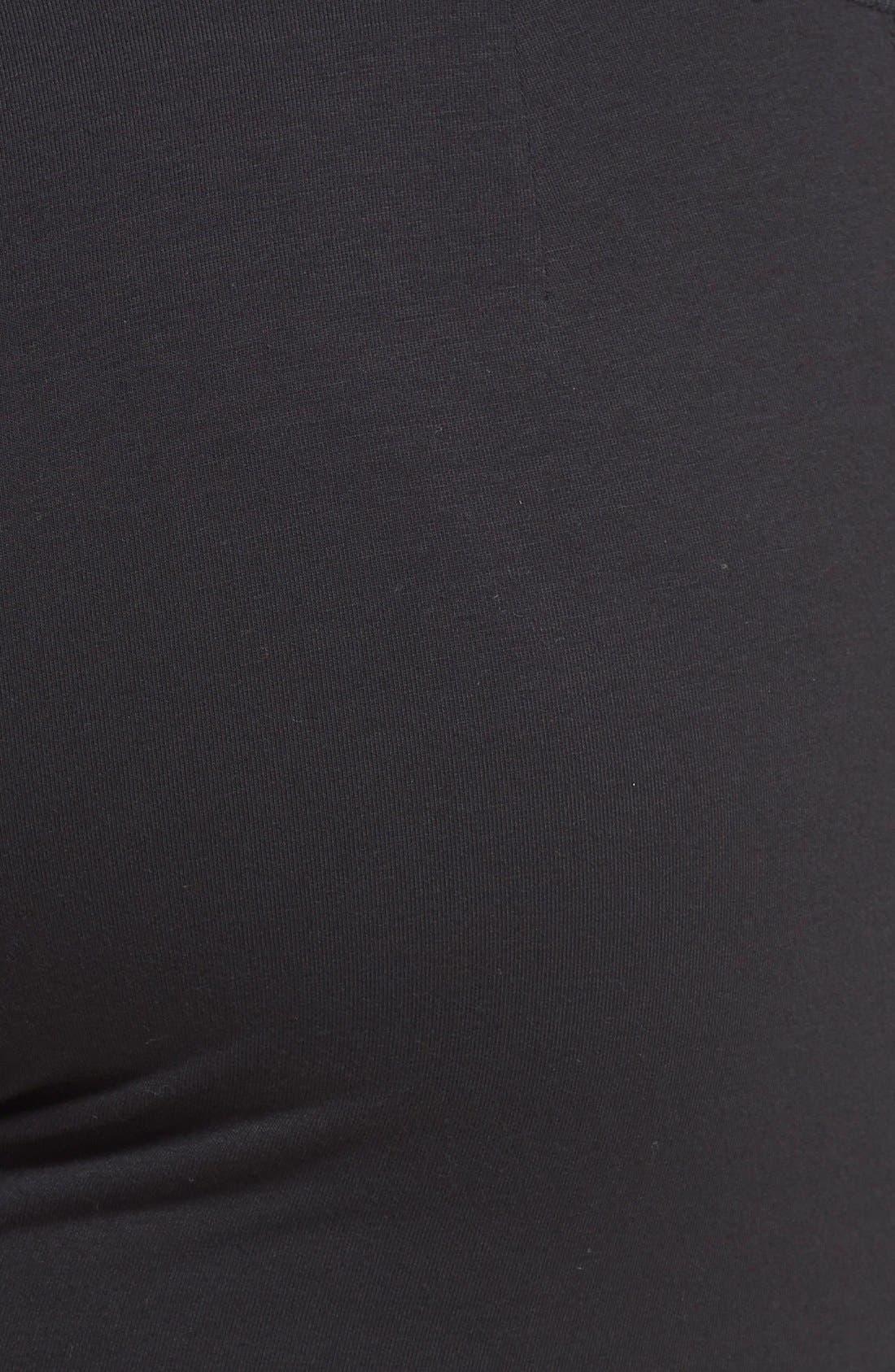 Skinny Knit Pants,                             Alternate thumbnail 3, color,                             Black