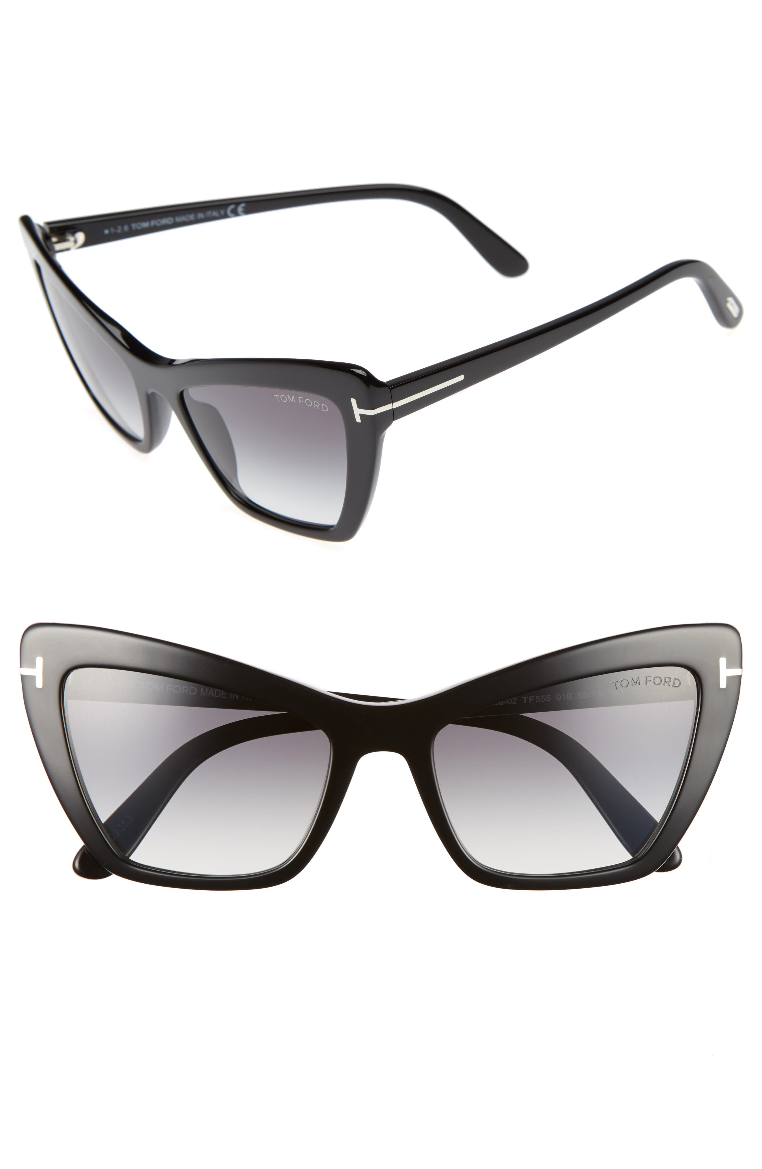 Alternate Image 1 Selected - Tom Ford Valesca 55mm Cat Eye Sunglasses