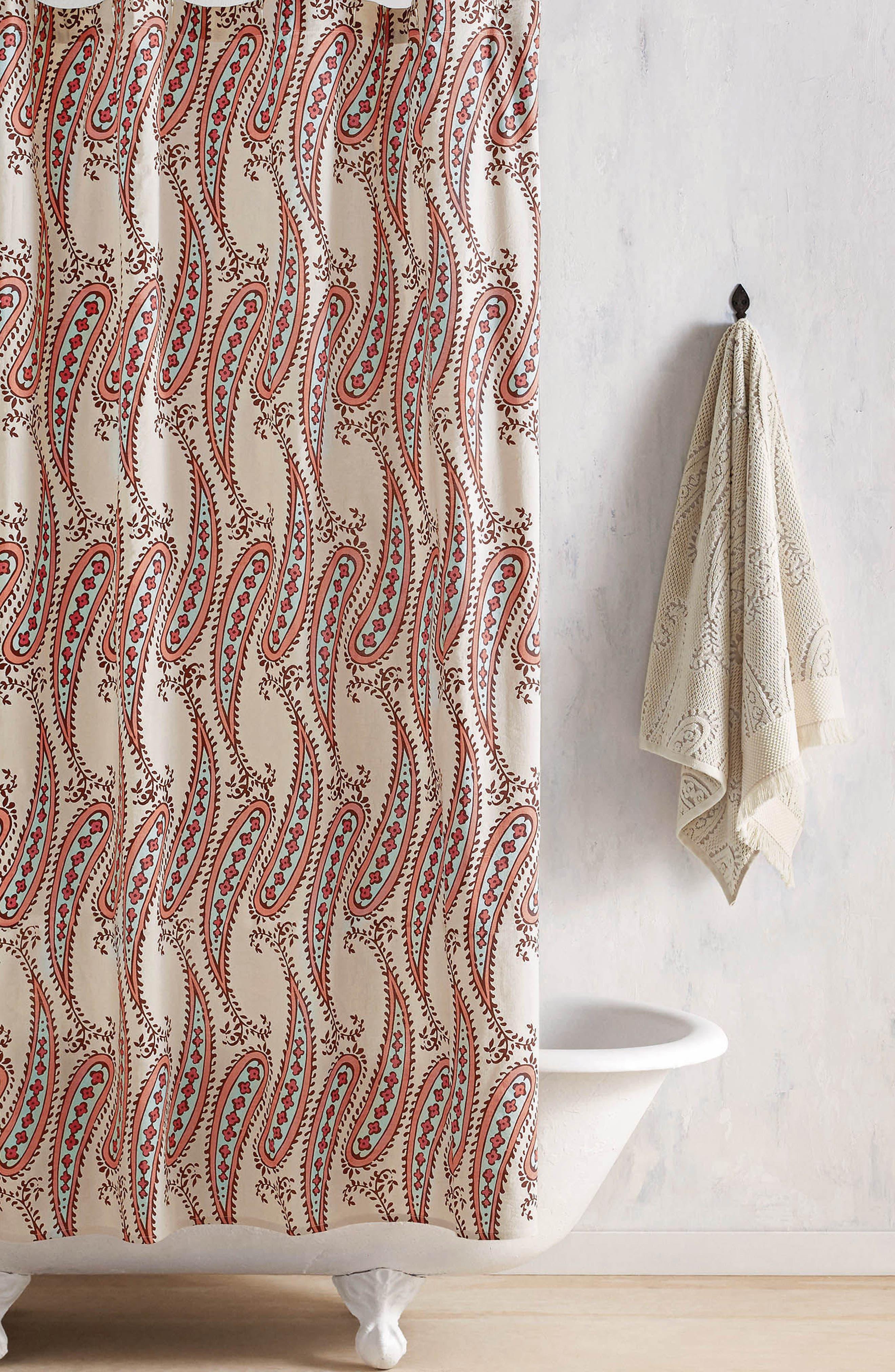 Naji Shower Curtain,                         Main,                         color, Linen