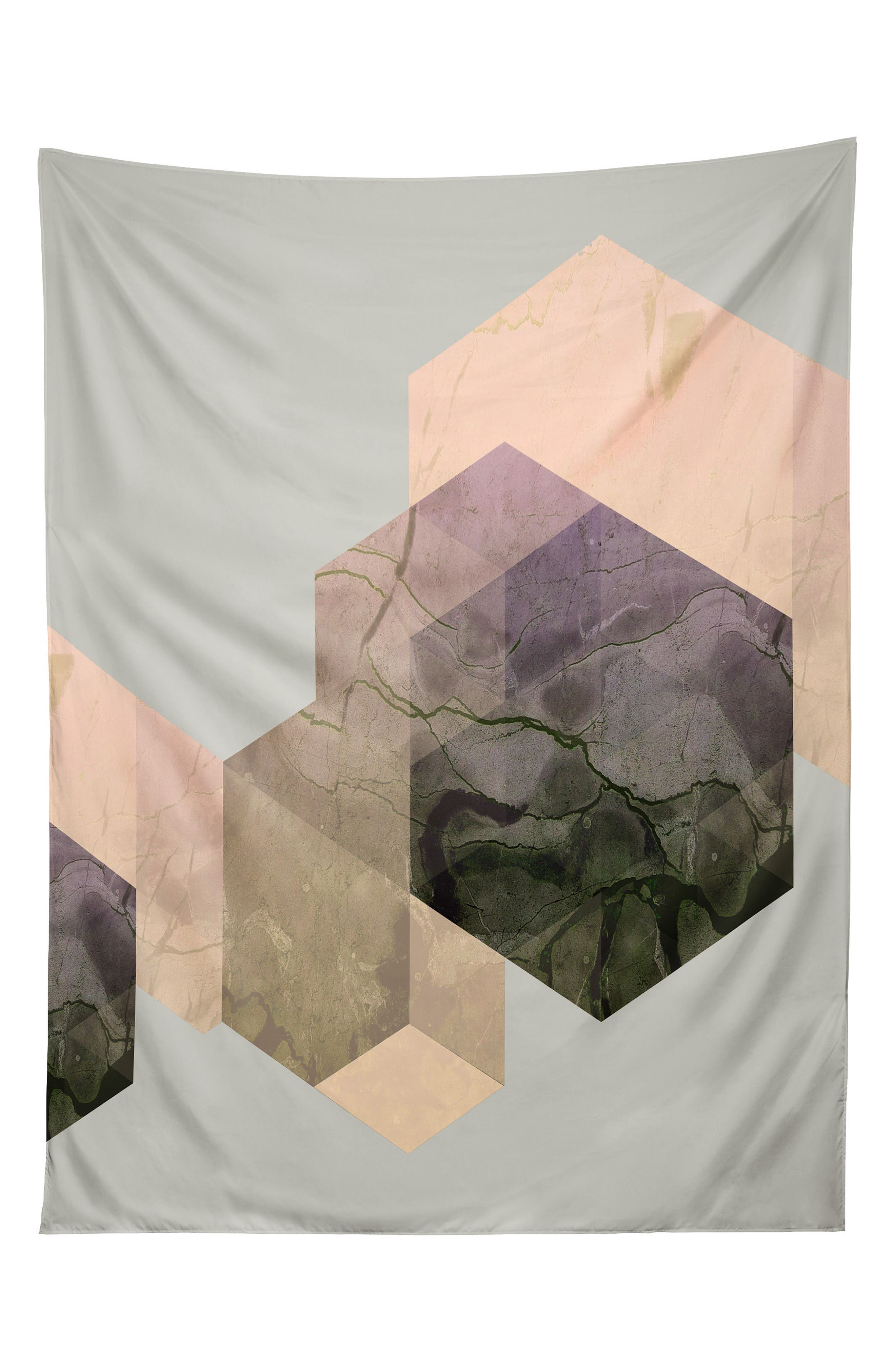 Main Image - Deny Designs Marble Geometry Tapestry