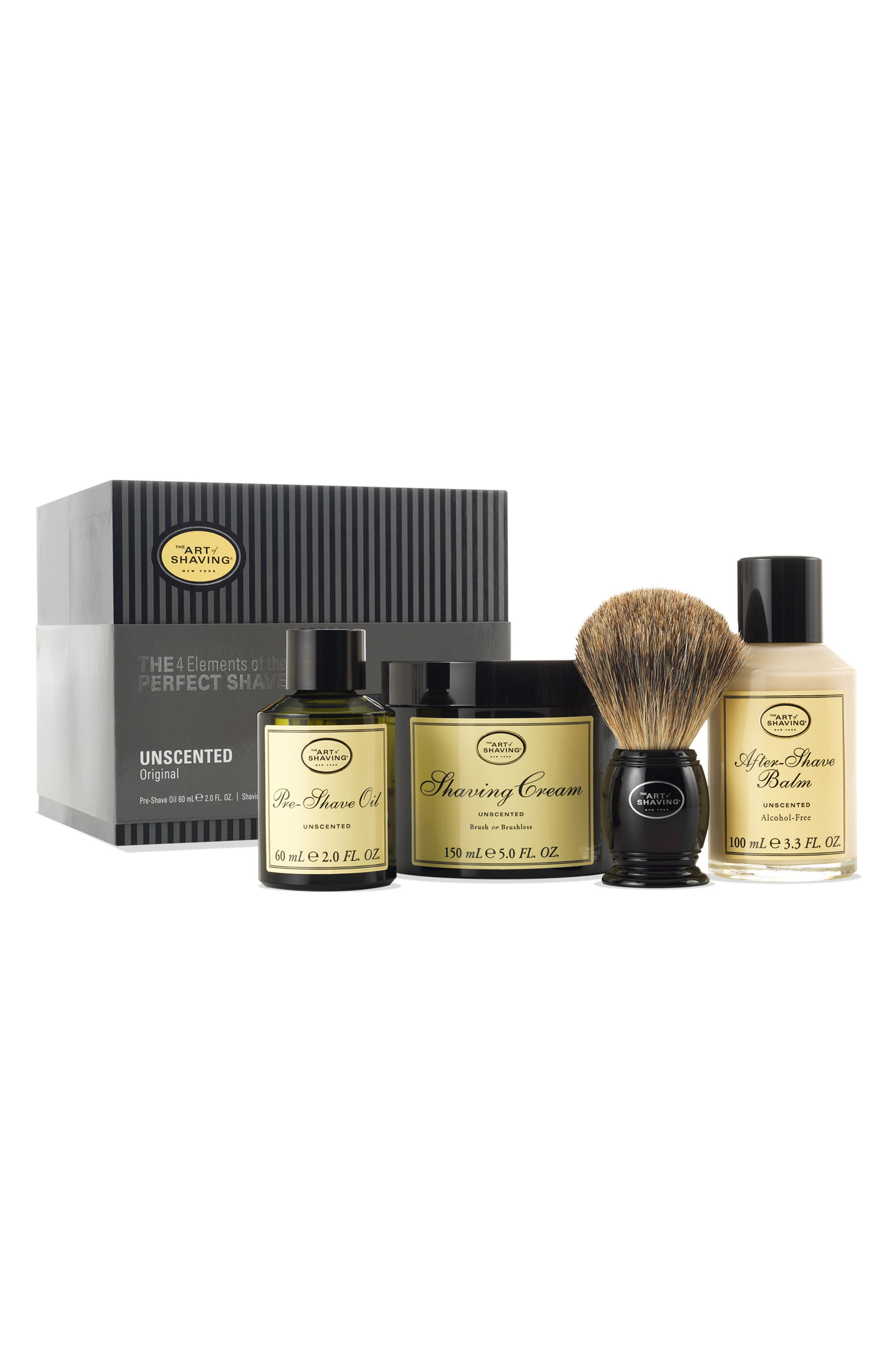 The 4 Elements of the Perfect Shave<sup>®</sup> Kit,                         Main,                         color, Unscented