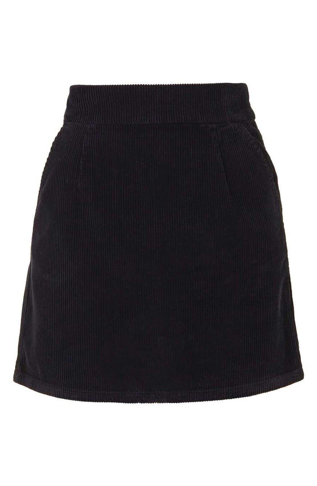 Alternate Image 4  - Topshop Corduroy Miniskirt