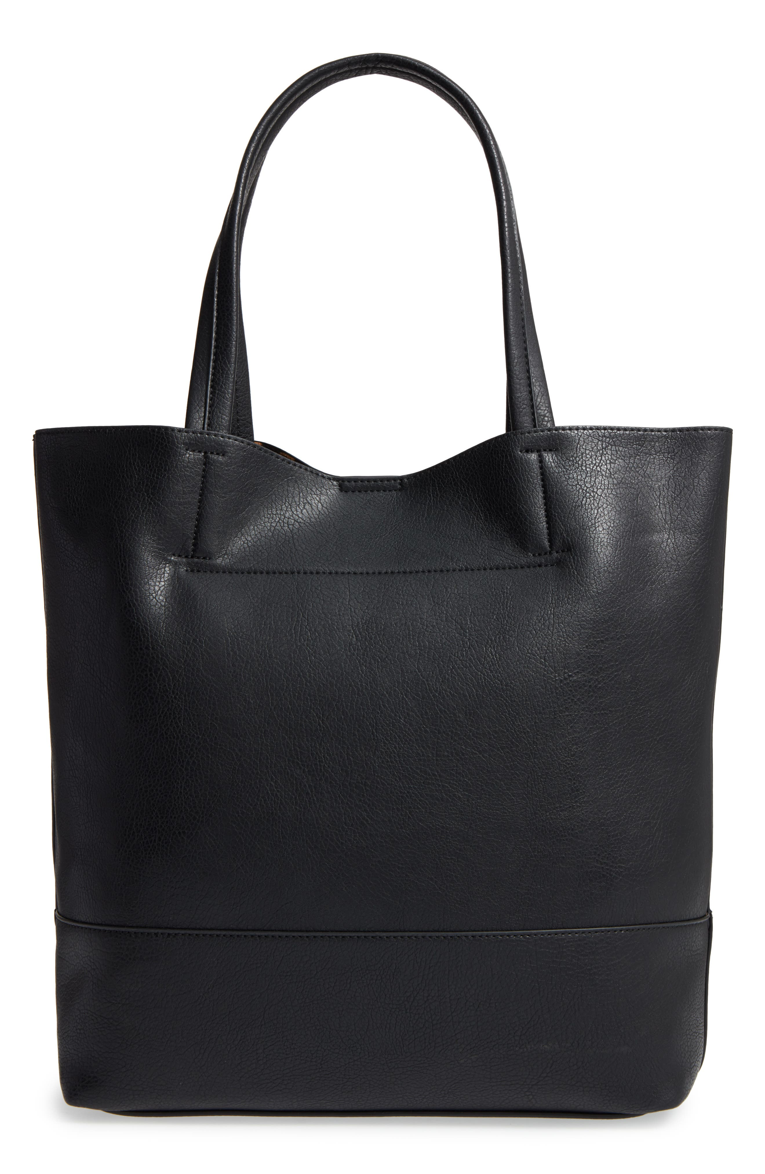 Sole Society Oversize Melyssa Faux Leather Tote