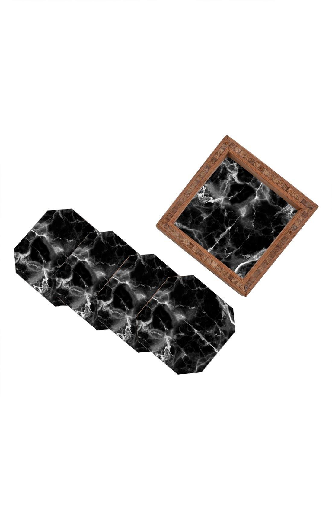 Alternate Image 2  - Deny Designs Marble No. 2 Set of 4 Coasters