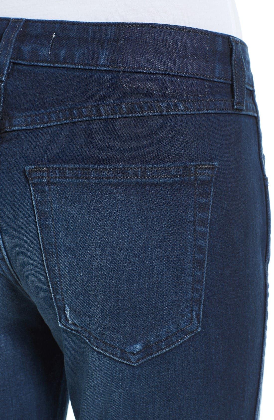 Alternate Image 4  - AMO 'Twist' Crop Skinny Jeans (Eclipse)