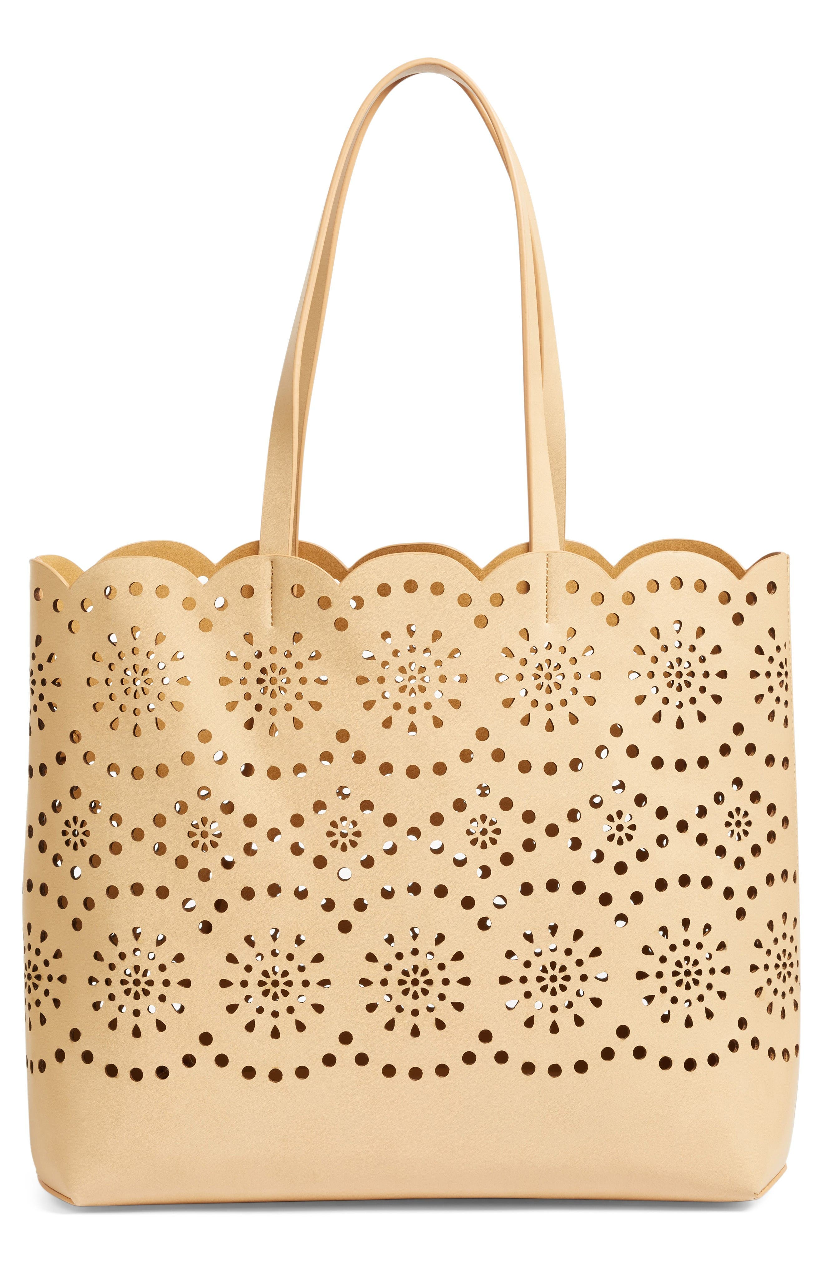 Alternate Image 1 Selected - Chelsea28 Lily Scallop Faux Leather Tote