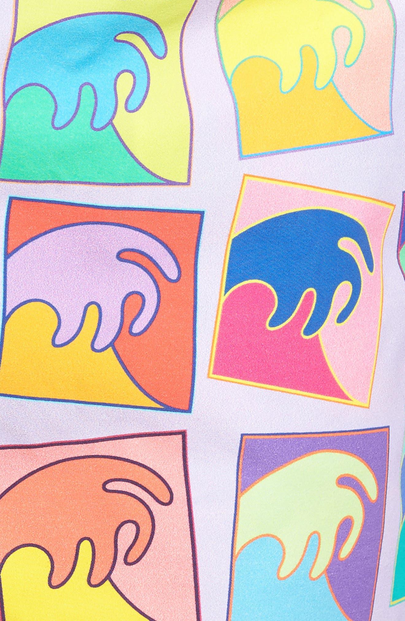 Alex Israel Swim Trunks,                             Alternate thumbnail 5, color,                             Purple/ Multi