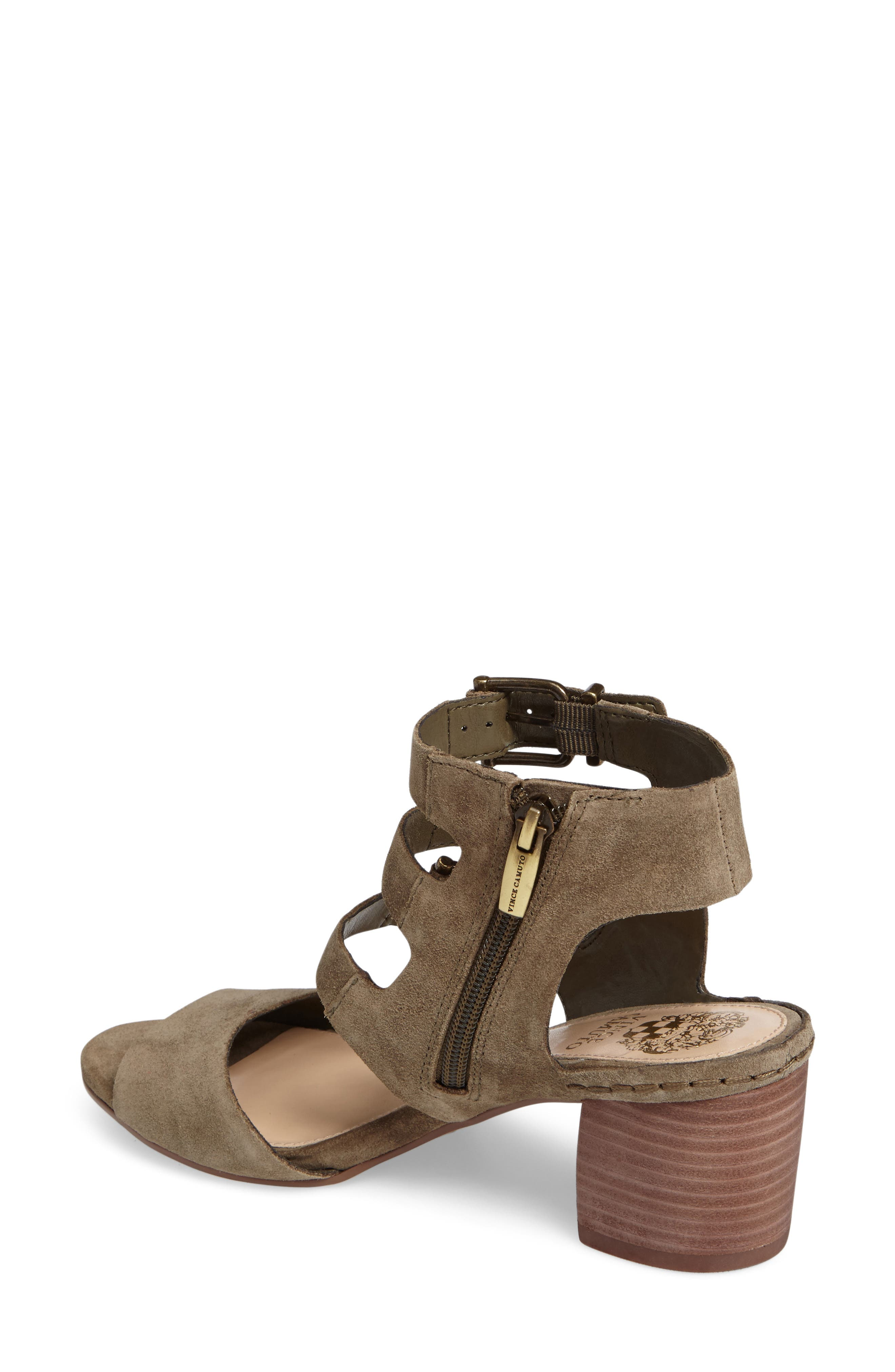 Geriann Strappy Slingback Sandal,                             Alternate thumbnail 2, color,                             Truffle Suede